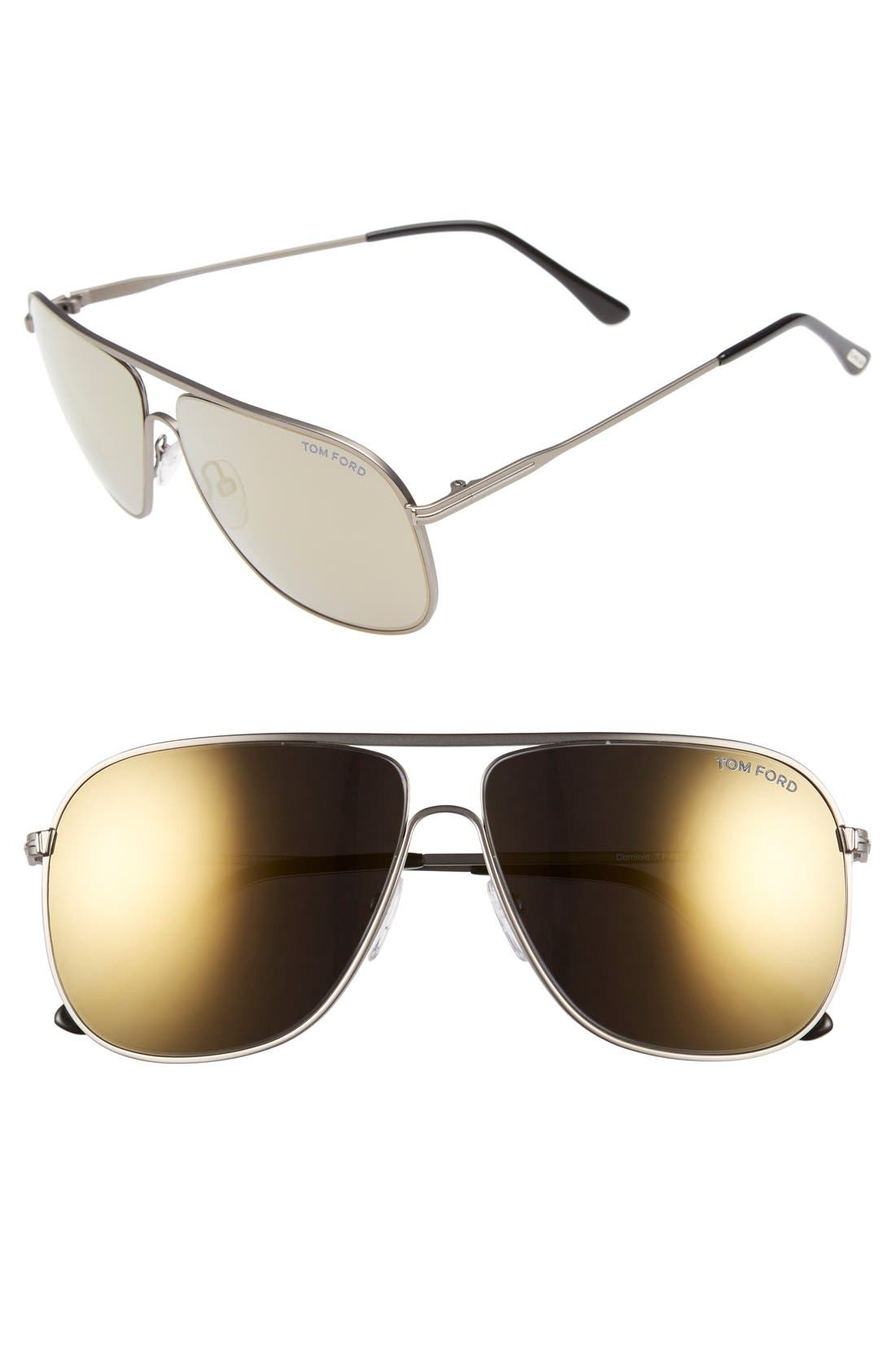 Alternate Image 1 Selected - Tom Ford 60mm Aviator Sunglasses