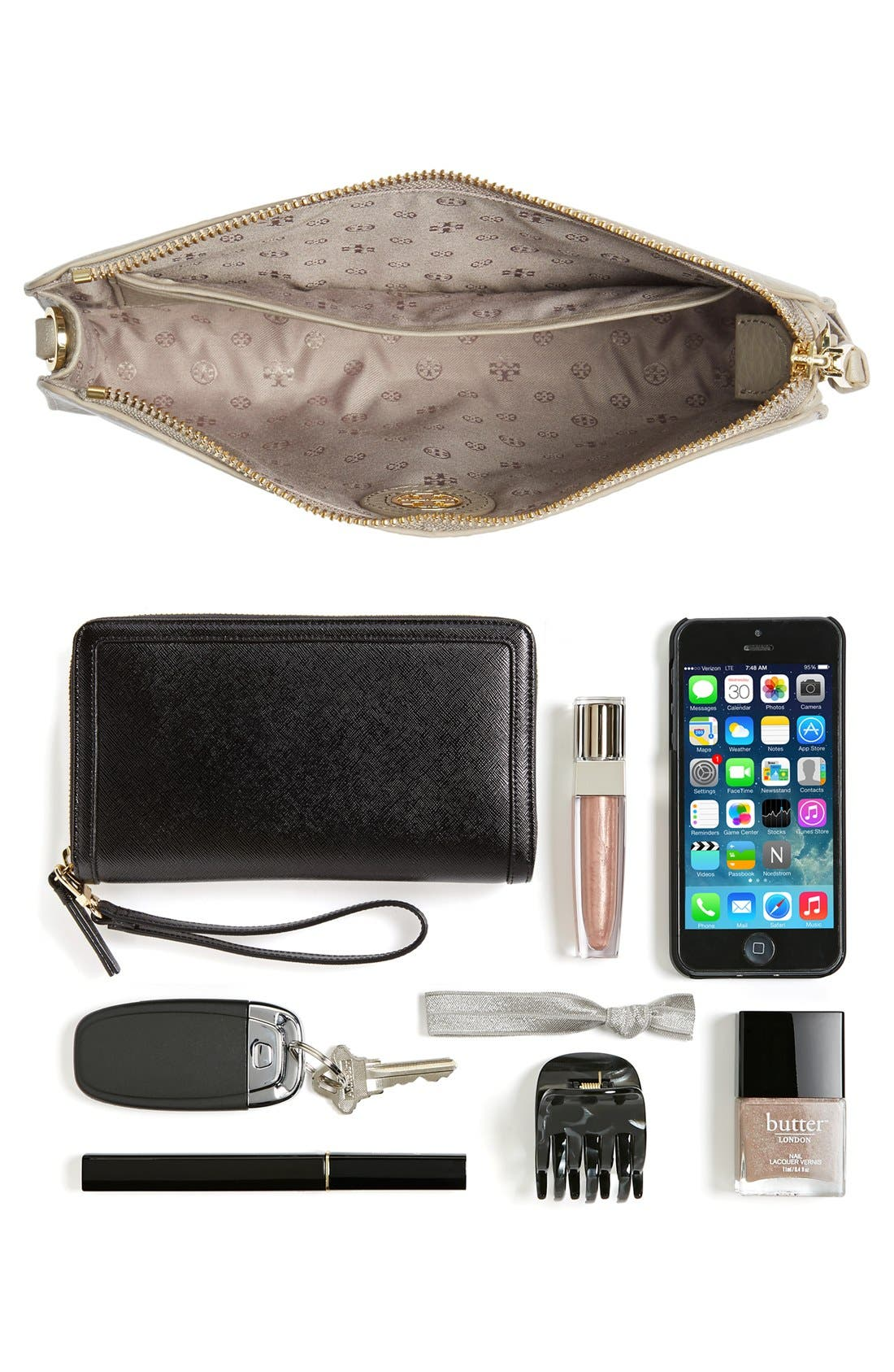 Alternate Image 3  - Tory Burch 'Robinson' Pebbled Leather Crossbody Wallet