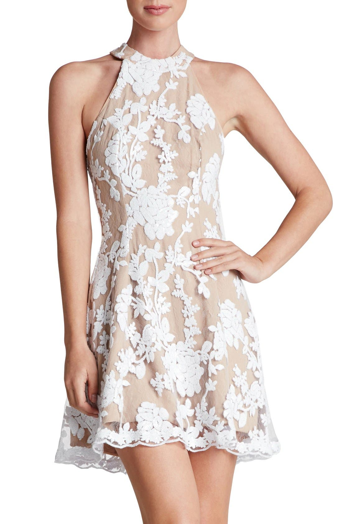Alternate Image 1 Selected - Dress the Population Abbie Minidress