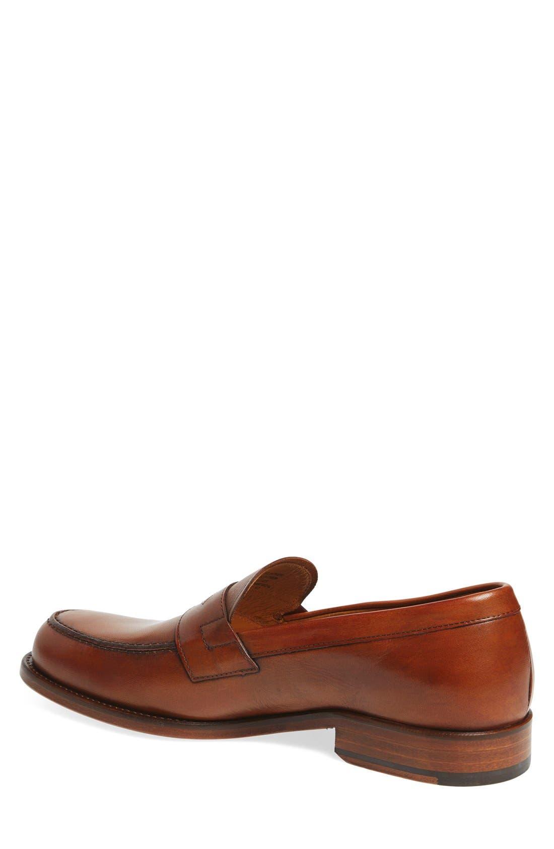 'Nacher' Loafer,                             Alternate thumbnail 2, color,                             Cognac Leather
