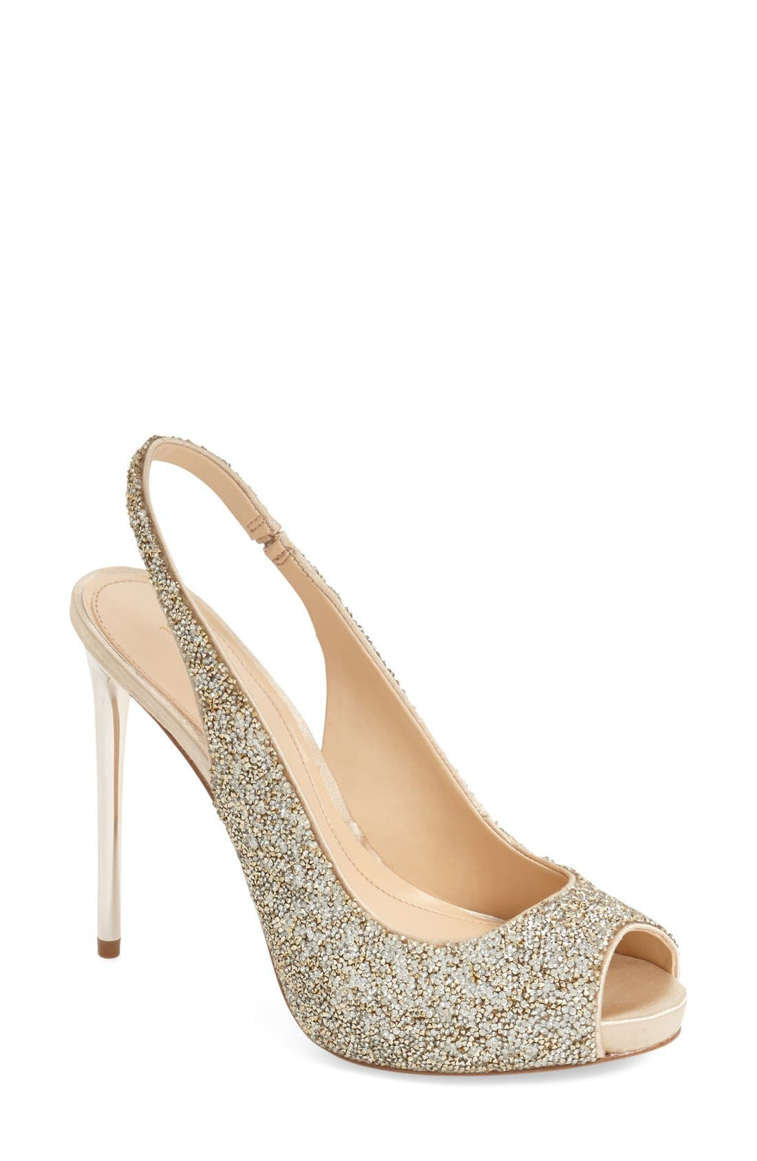 Alternate Image 1 Selected - Imagine Vince Camuto 'Pavi' Slingback Peep Toe Pump (Women)