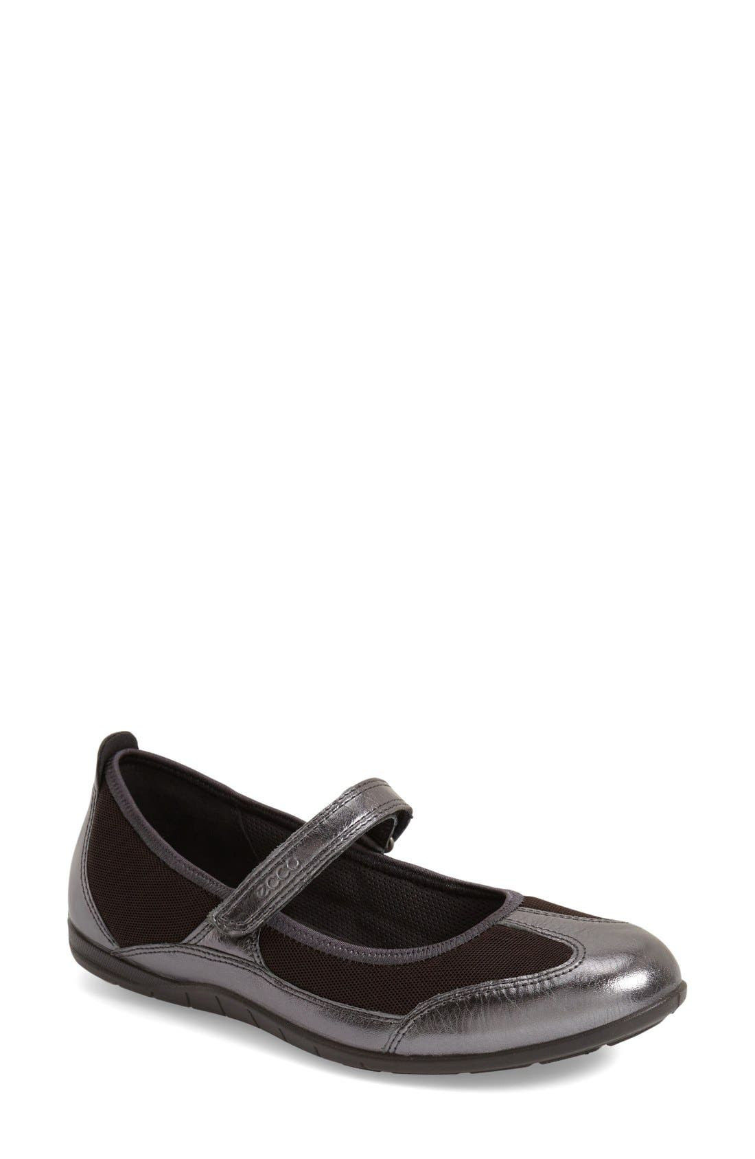 Alternate Image 1 Selected - ECCO 'Bluma' Mary Jane Flat (Women)