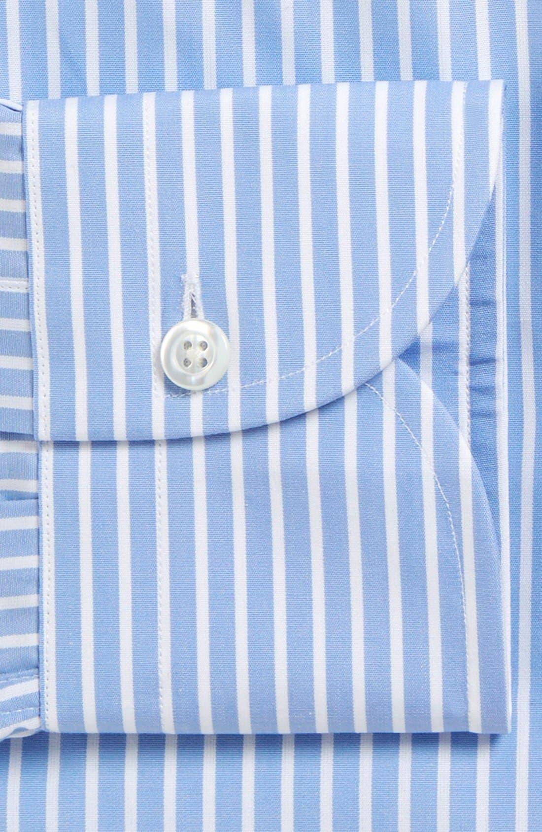 'Blue Banker' Classic Fit Stripe Dress Shirt,                             Alternate thumbnail 2, color,                             Blue