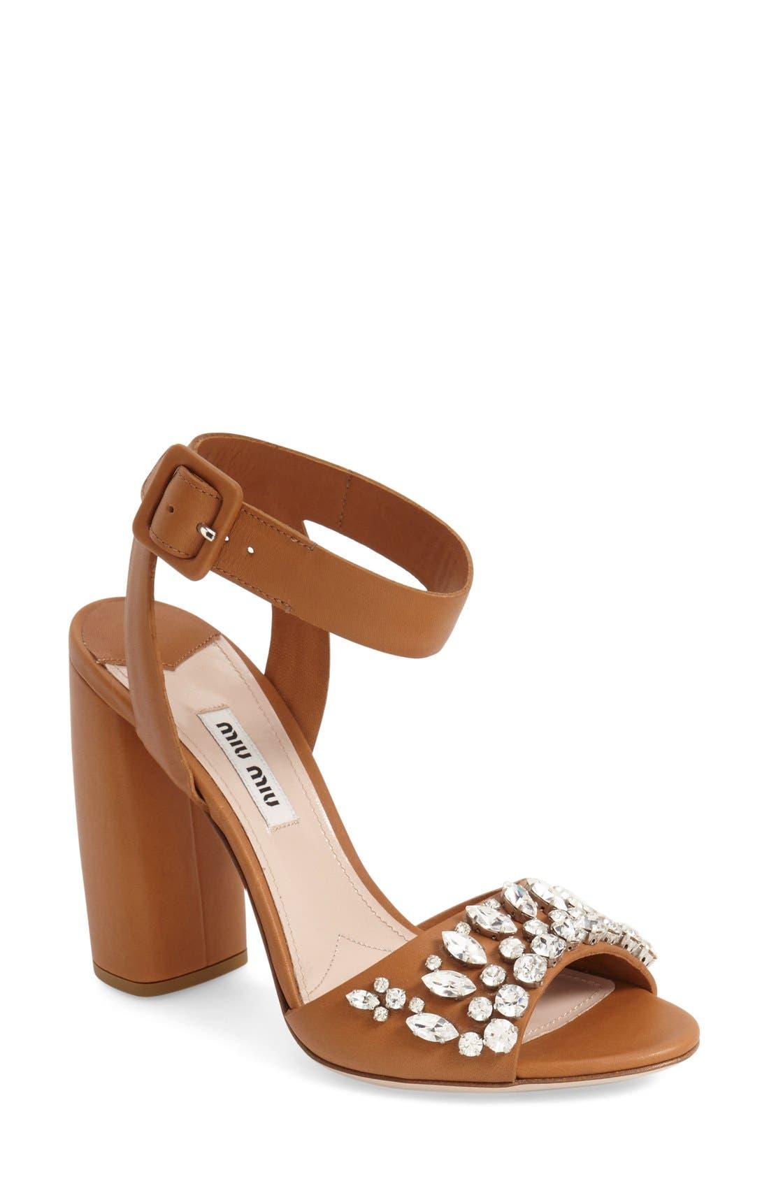 Main Image - Miu Miu 'Jewel' Sandal (Women)