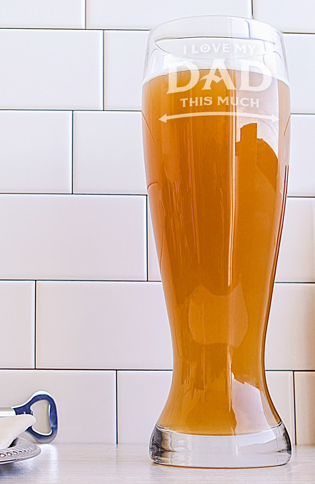 'Father's Day' Pilsner Glass,                             Main thumbnail 1, color,                             Clear