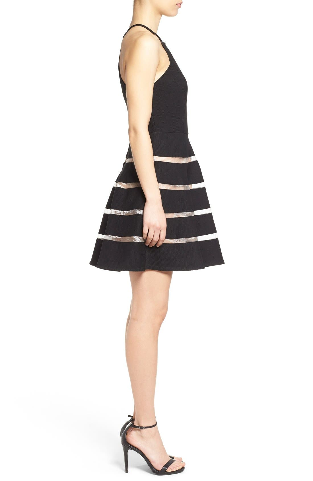 Alternate Image 3  - Way-In Inset Stripe Skater Dress