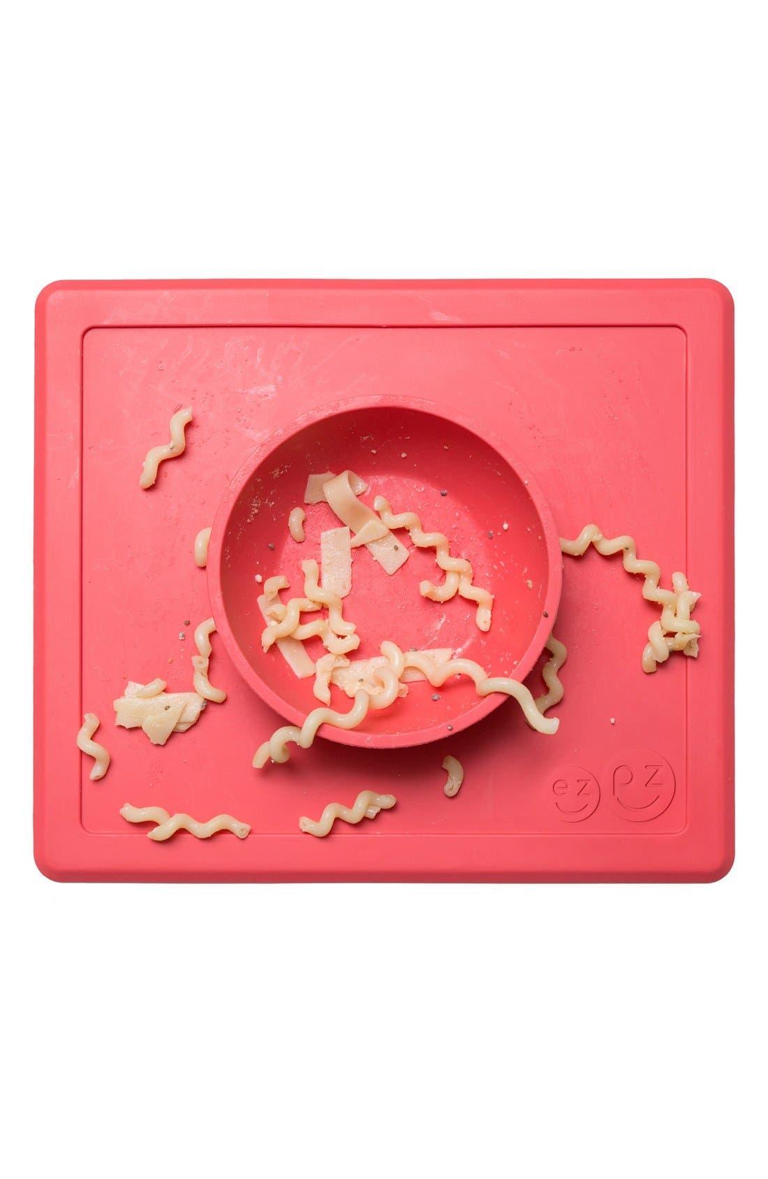 Alternate Image 5  - ezpz 'Happy Bowl' Silicone Feeding Mat