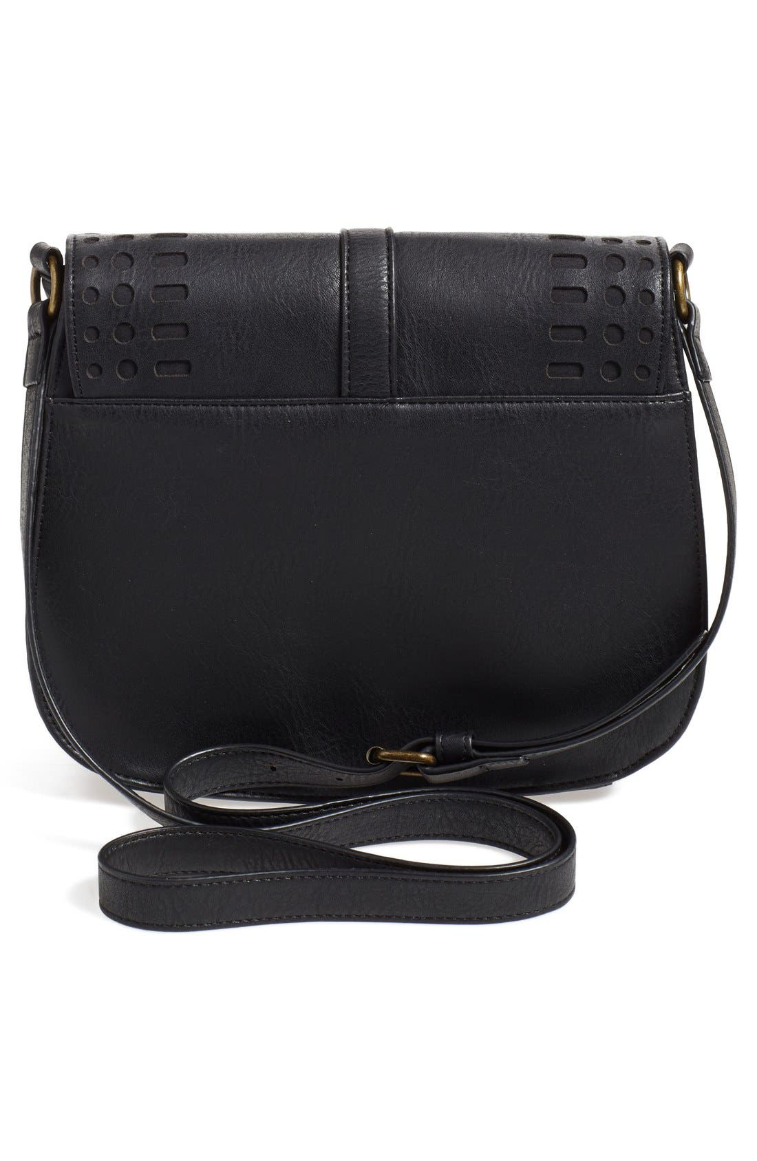Alternate Image 3  - Dirty Ballerina Perforated Faux Leather Saddle Crossbody Bag