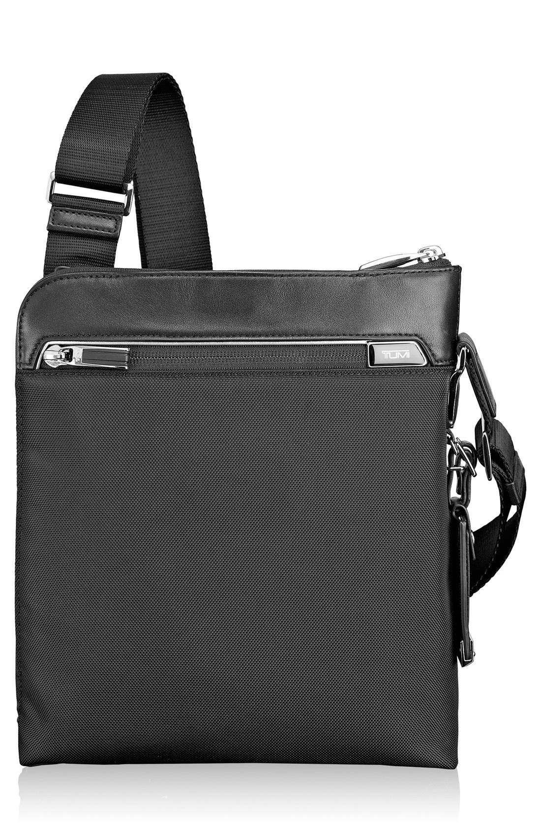Arrivé - Owen Crossbody Bag,                             Main thumbnail 1, color,                             Black
