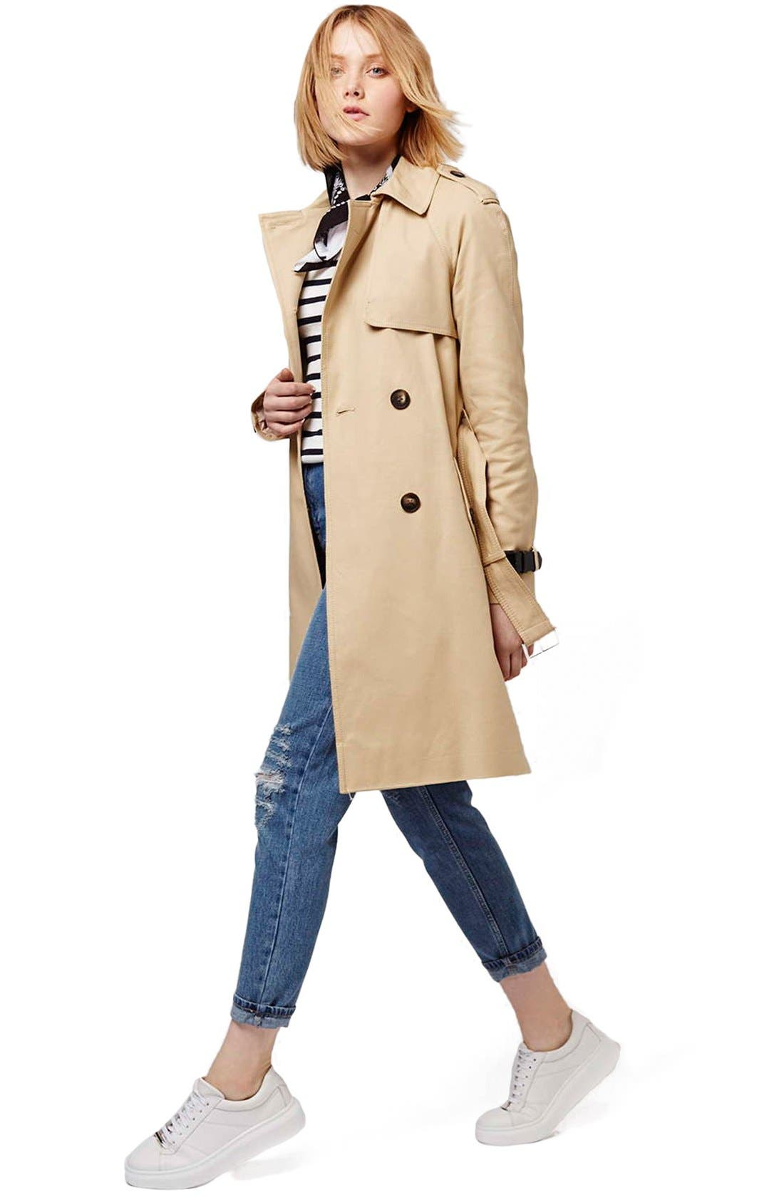 Alternate Image 2  - Topshop Military Trench Coat