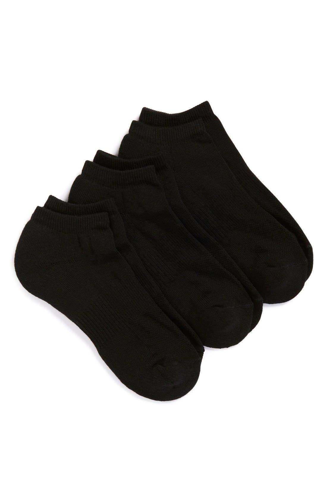 Alternate Image 1 Selected - Nordstrom Men's Shop 3-Pack No-Show Athletic Socks