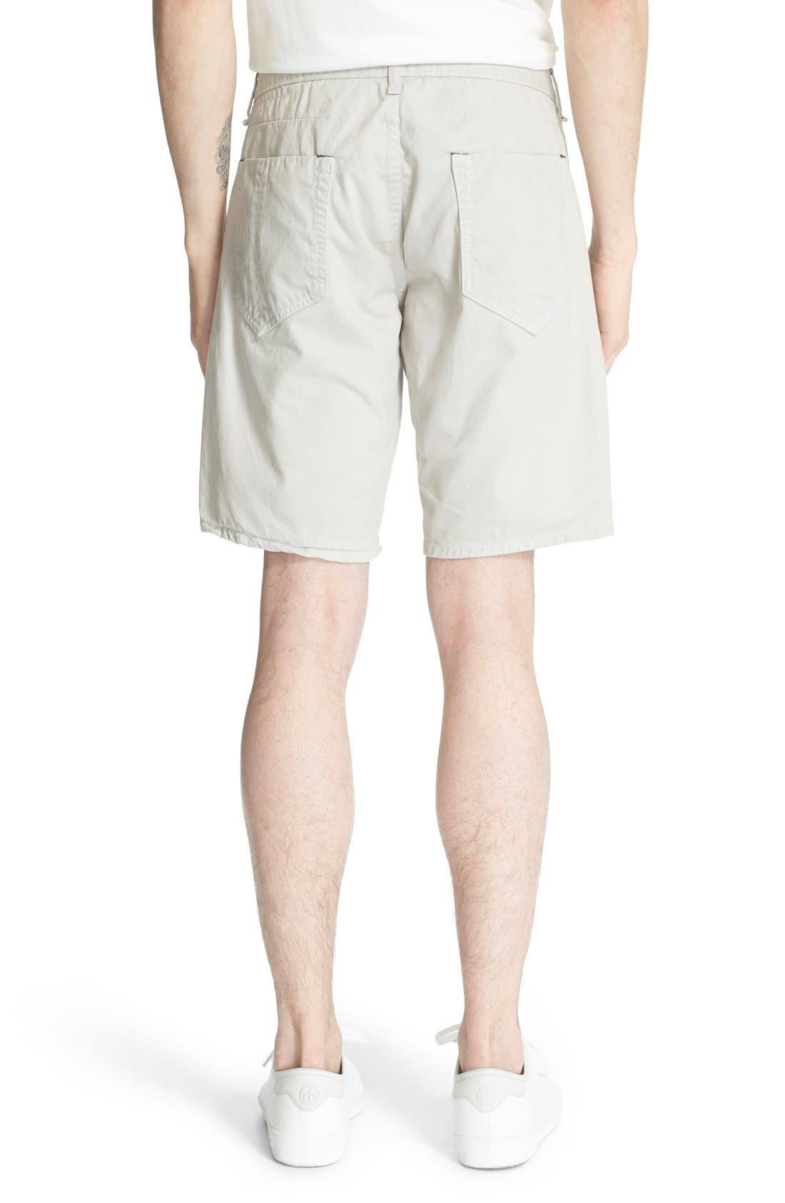 'Standard Issue' Cotton Shorts,                             Alternate thumbnail 2, color,                             Pale Gray