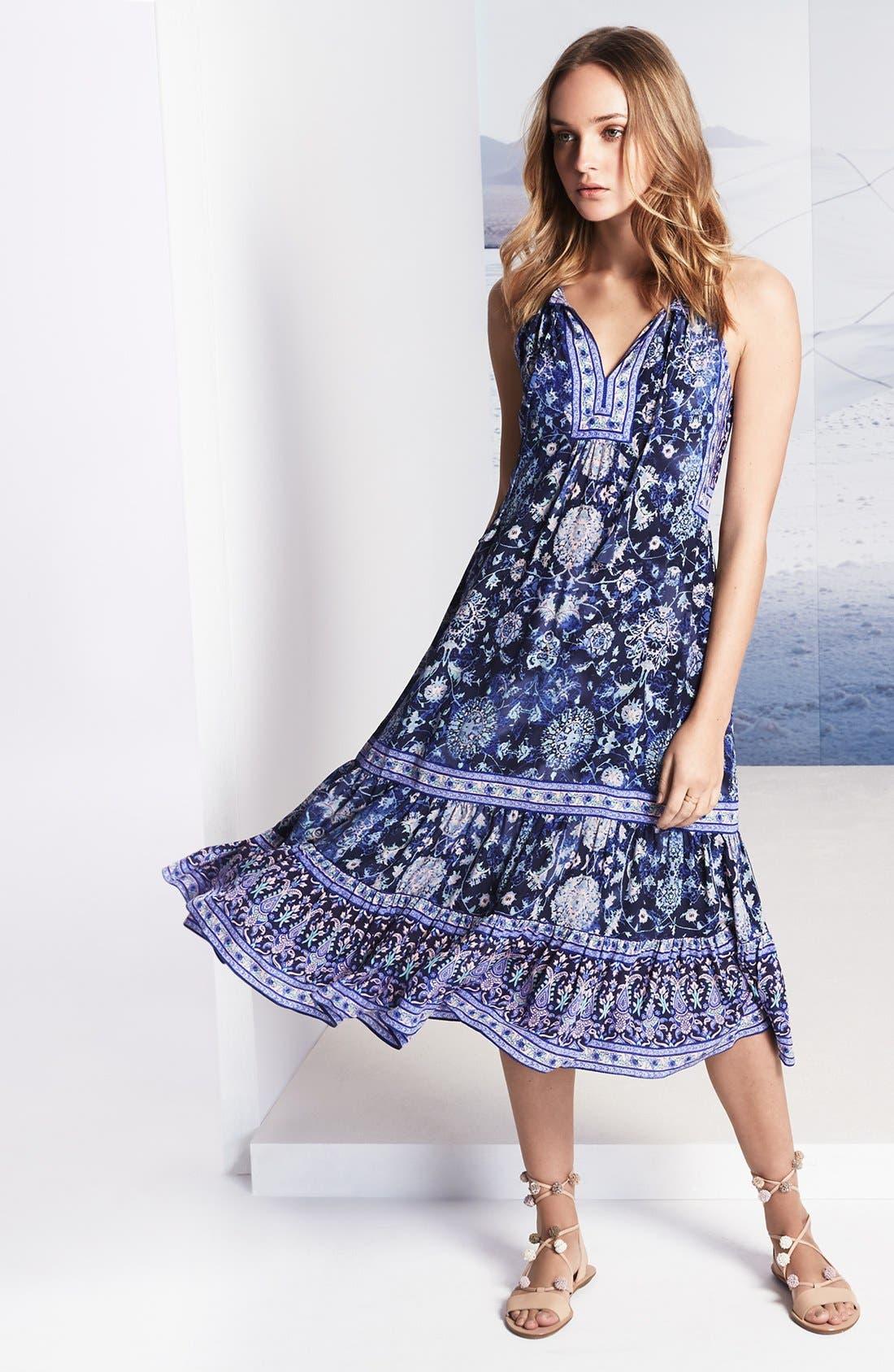 Alternate Image 7  - Rebecca Taylor 'Dreamweaver' Print Silk Midi Dress