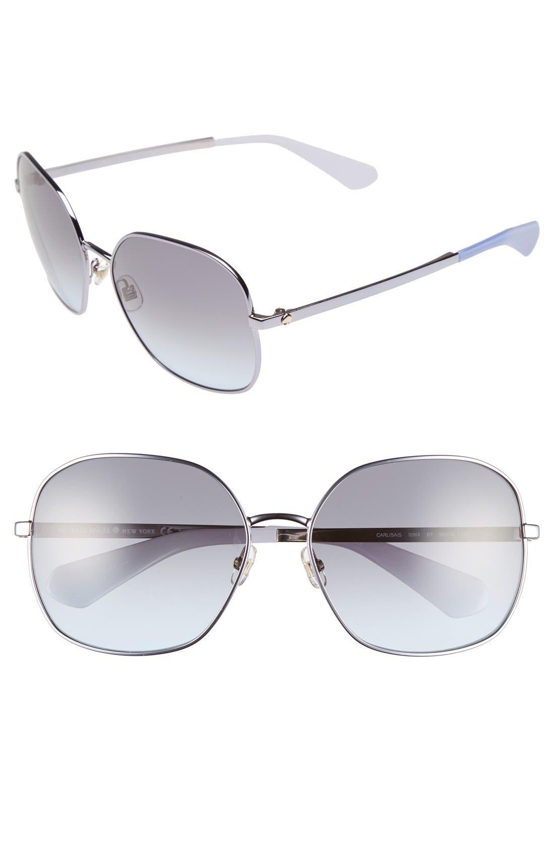 Main Image - kate spade new york 'carlisa' 59mm sunglasses