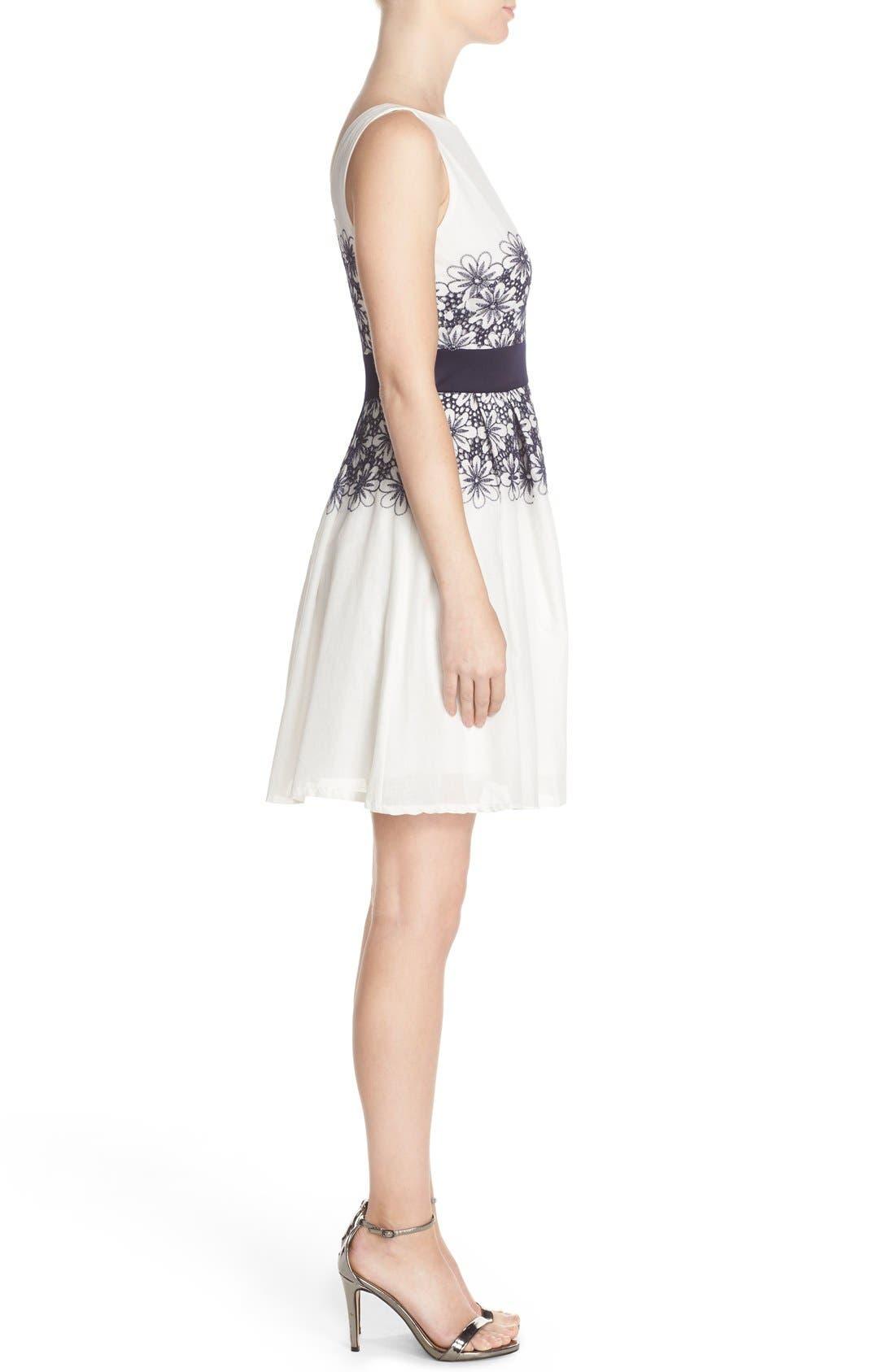 Alternate Image 3  - Taylor Dresses Embroidered Fit & Flare Dress