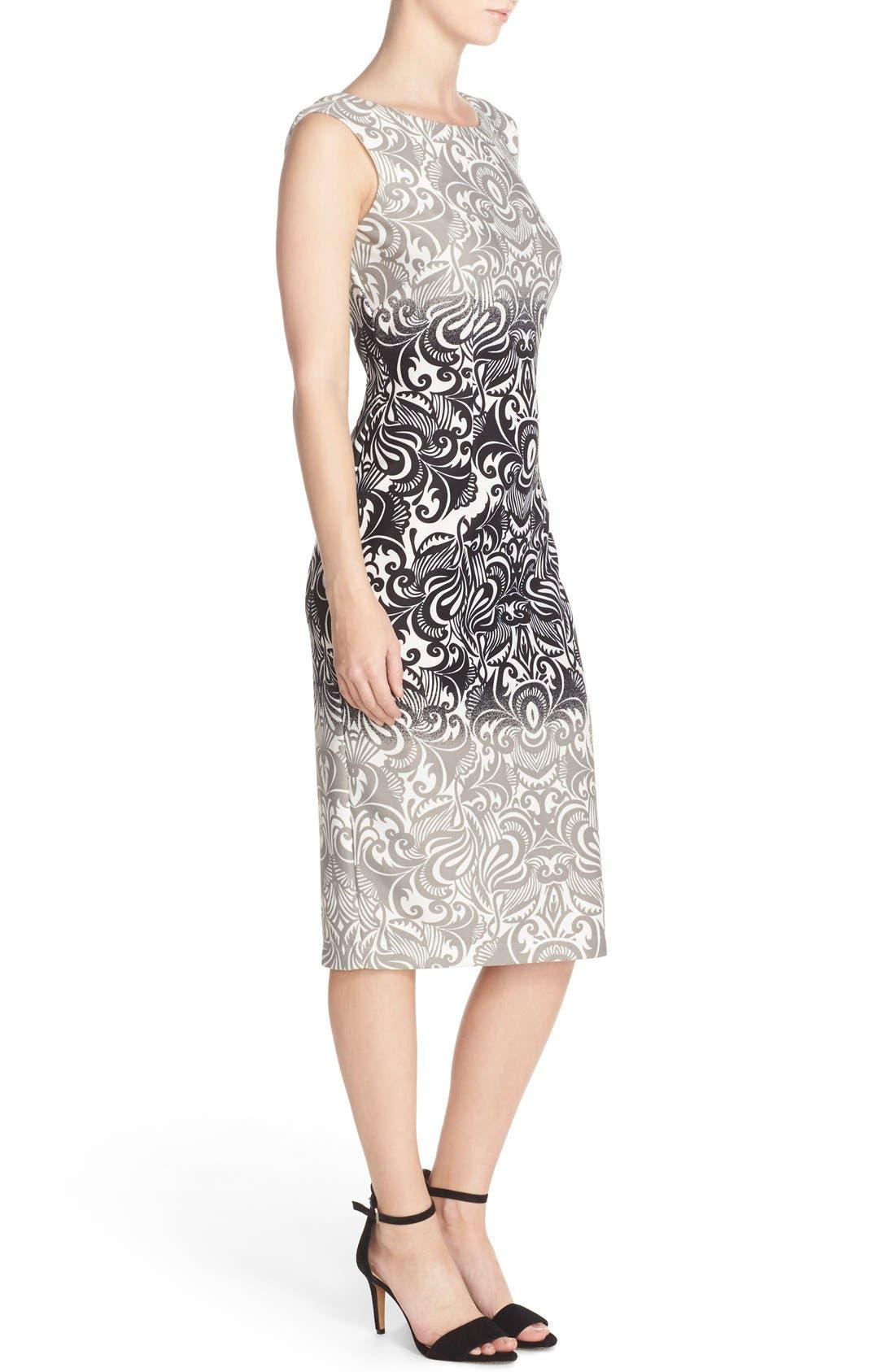 Alternate Image 3  - Gabby Skye Print Scuba Sheath Dress