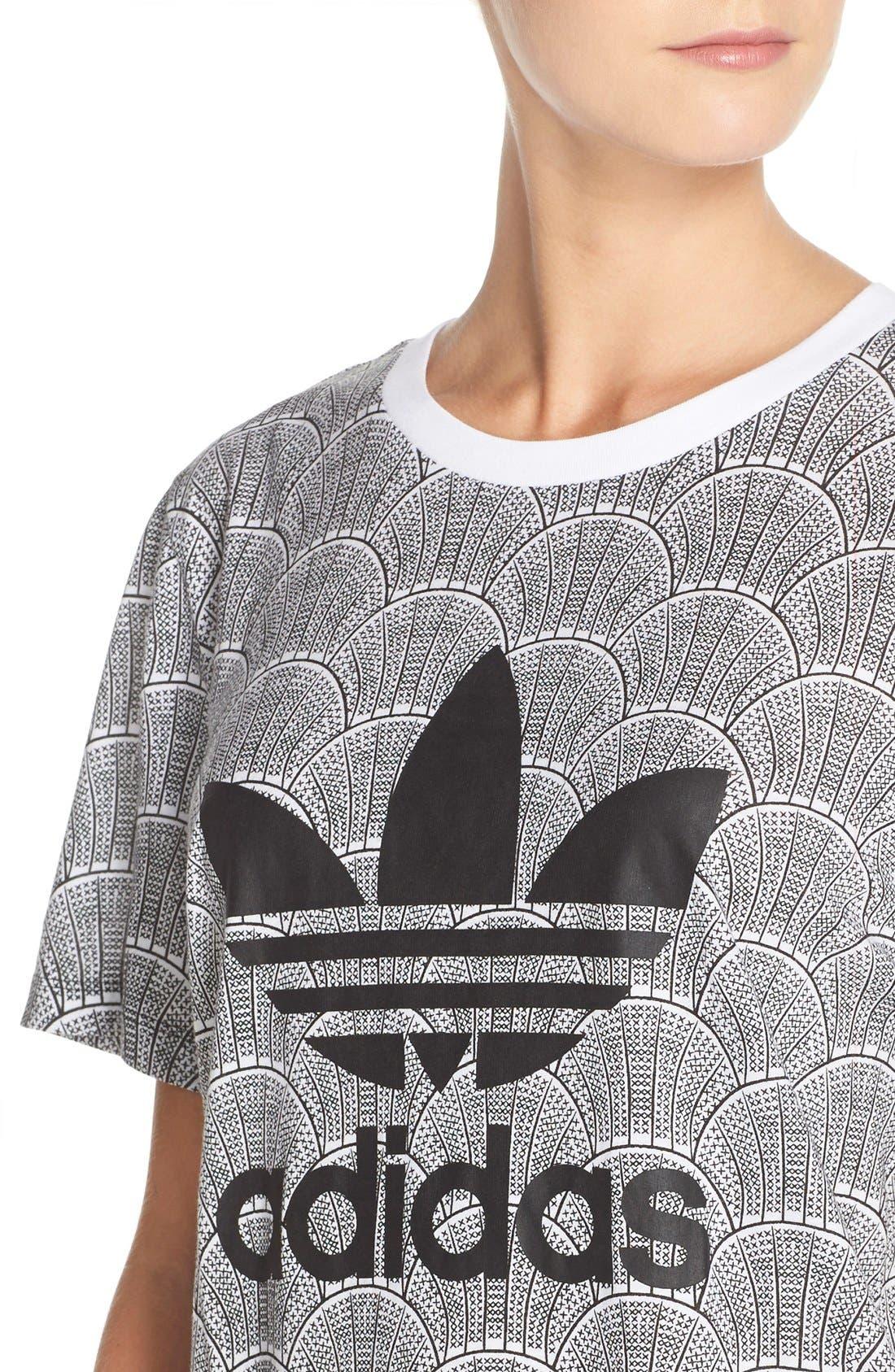 Alternate Image 4  - adidas Originals 'Shell Tile' Boyfriend Tee