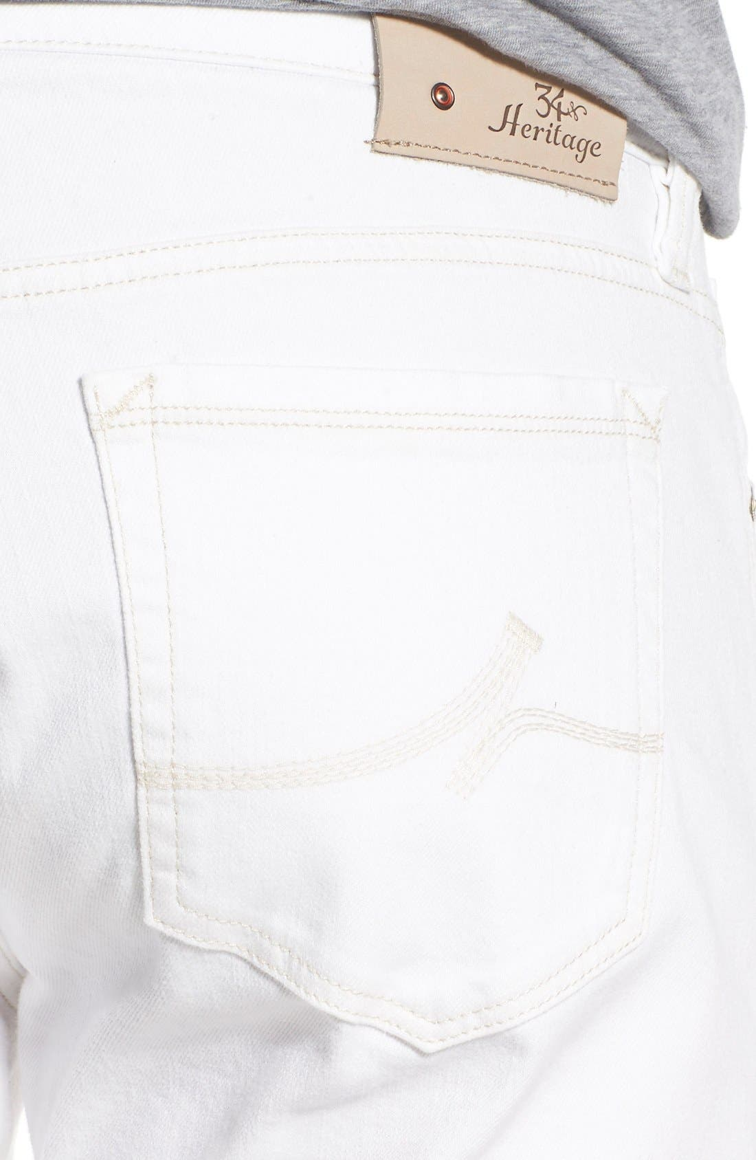 'Courage' Straight Leg Jeans,                             Alternate thumbnail 4, color,                             White Denim