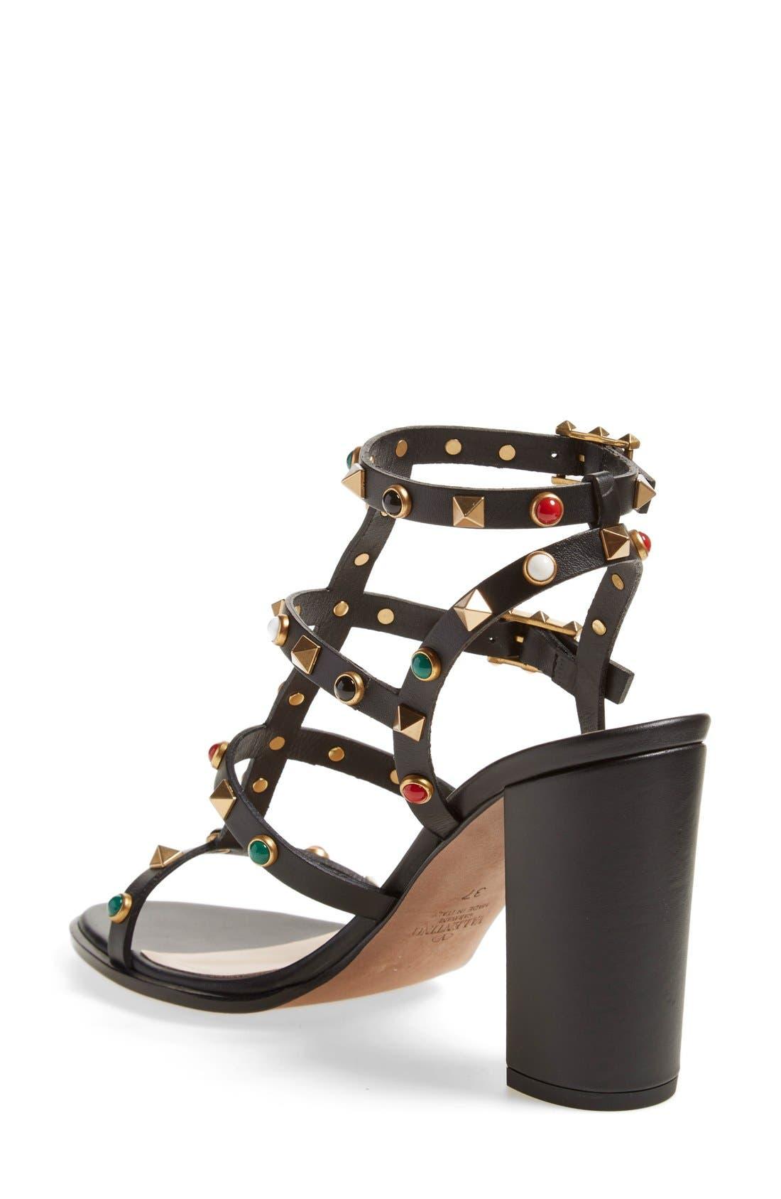 Alternate Image 2  - Valentino 'Vitello' Studded Sandal (Women)