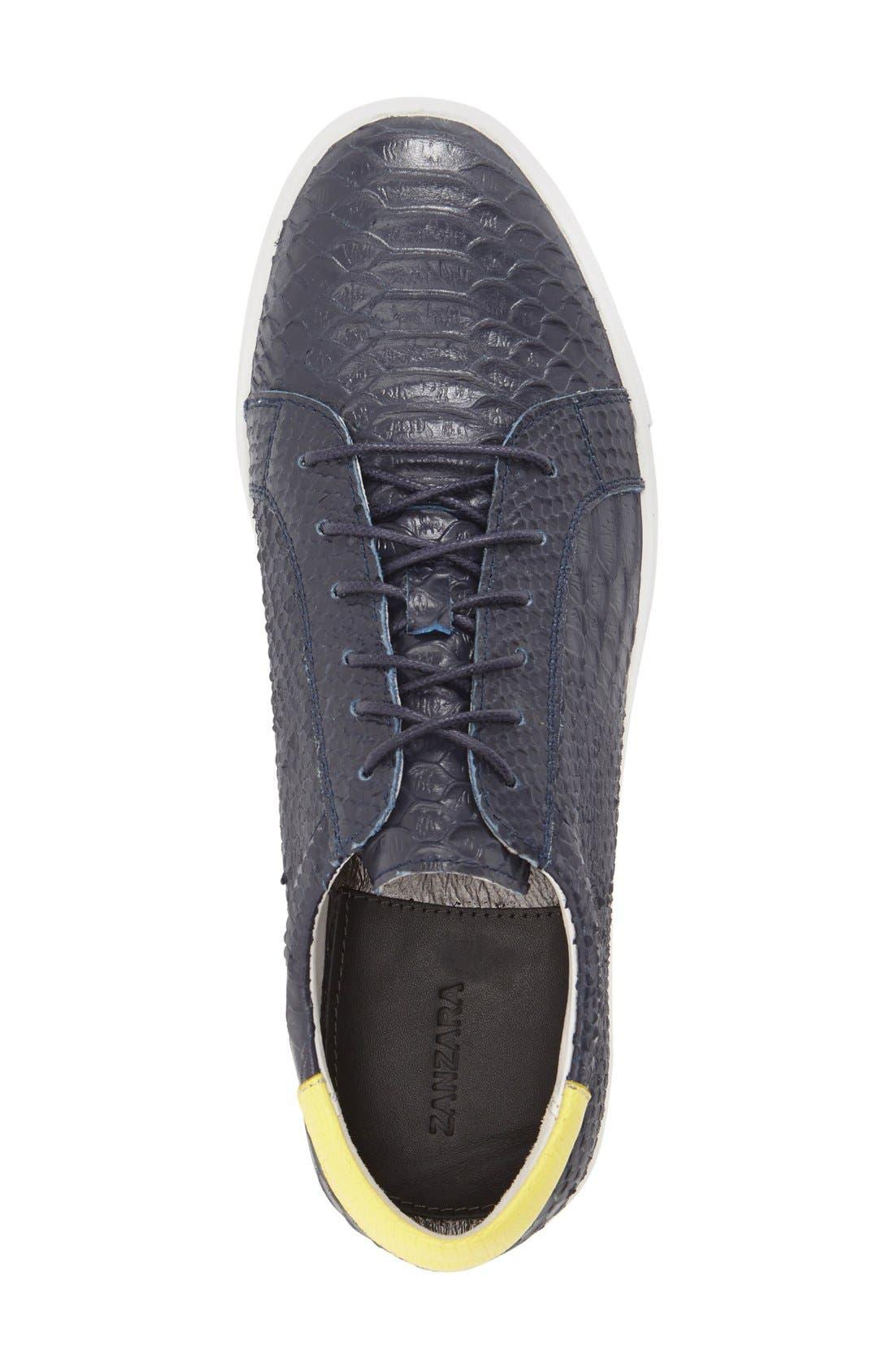 'Riff' Sneaker,                             Alternate thumbnail 3, color,                             Navy Leather