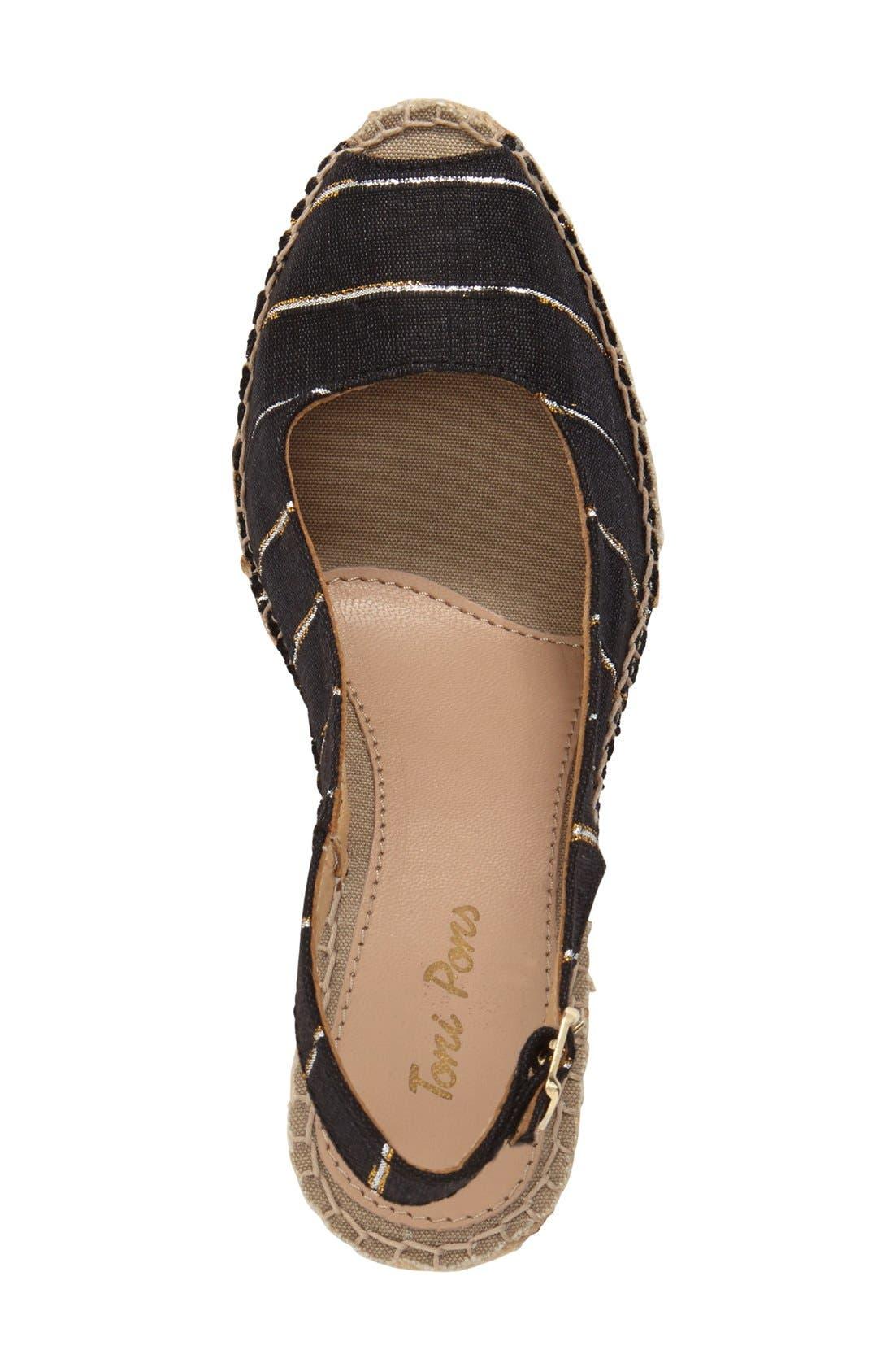 Alternate Image 3  - Toni Pons 'Carmina' Silk Slingback Wedge Sandal (Women)