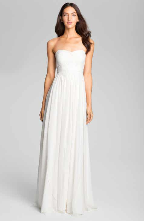 79fa41575f Jenny Yoo Monarch Sweetheart Neckline Layered Chiffon Gown