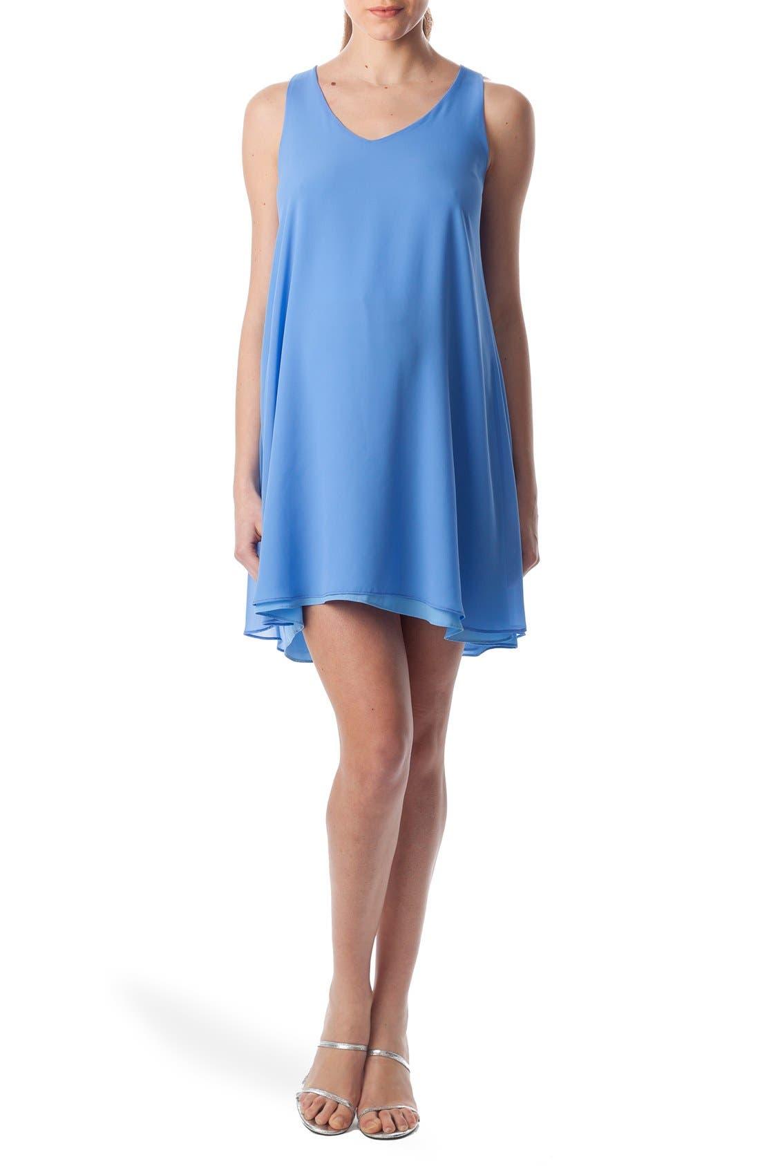 'Lago Di Como' High/Low Maternity Dress,                             Main thumbnail 1, color,                             Provence / Light Azure