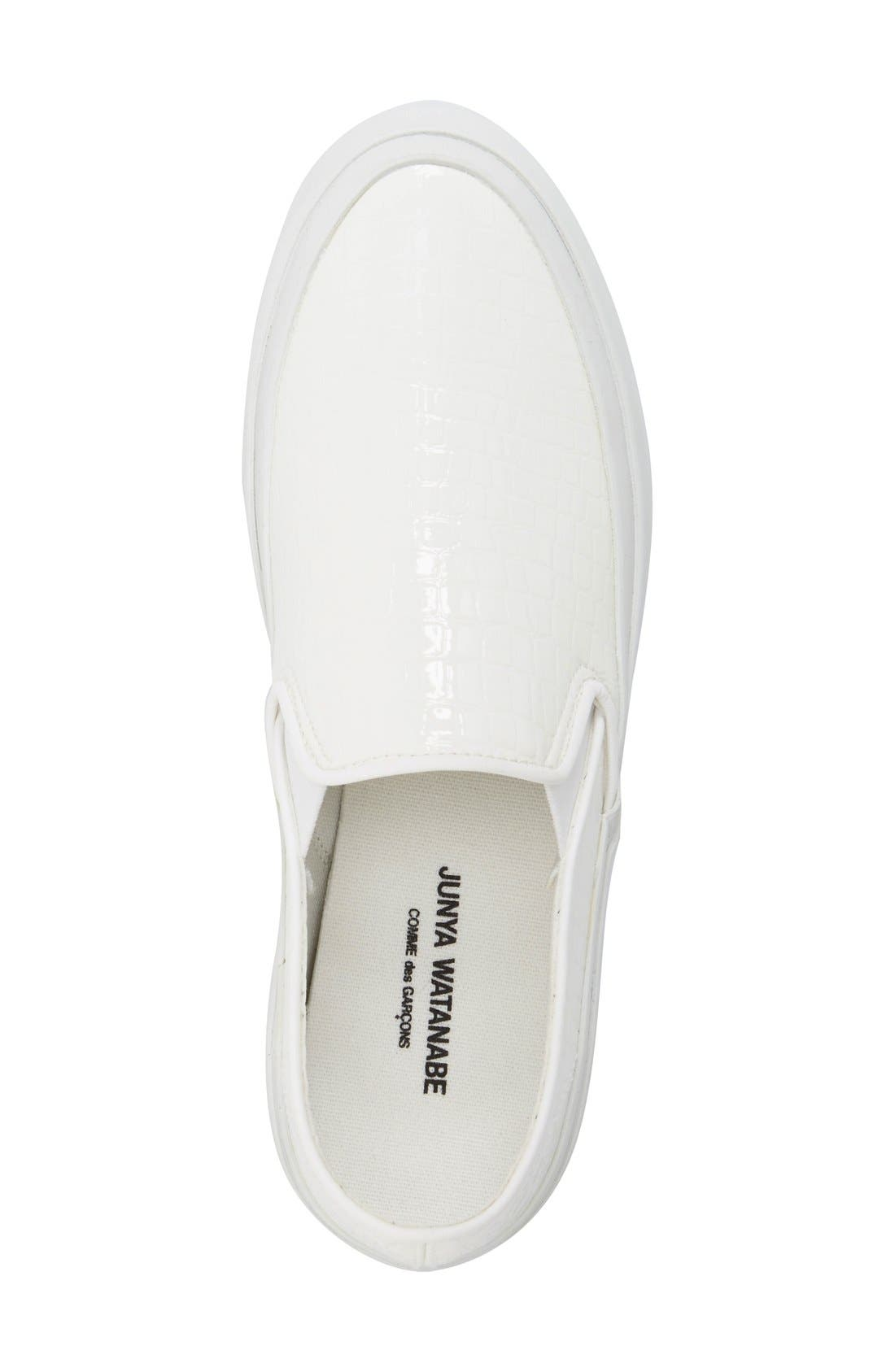 Slip-On Sneaker,                             Alternate thumbnail 3, color,                             White