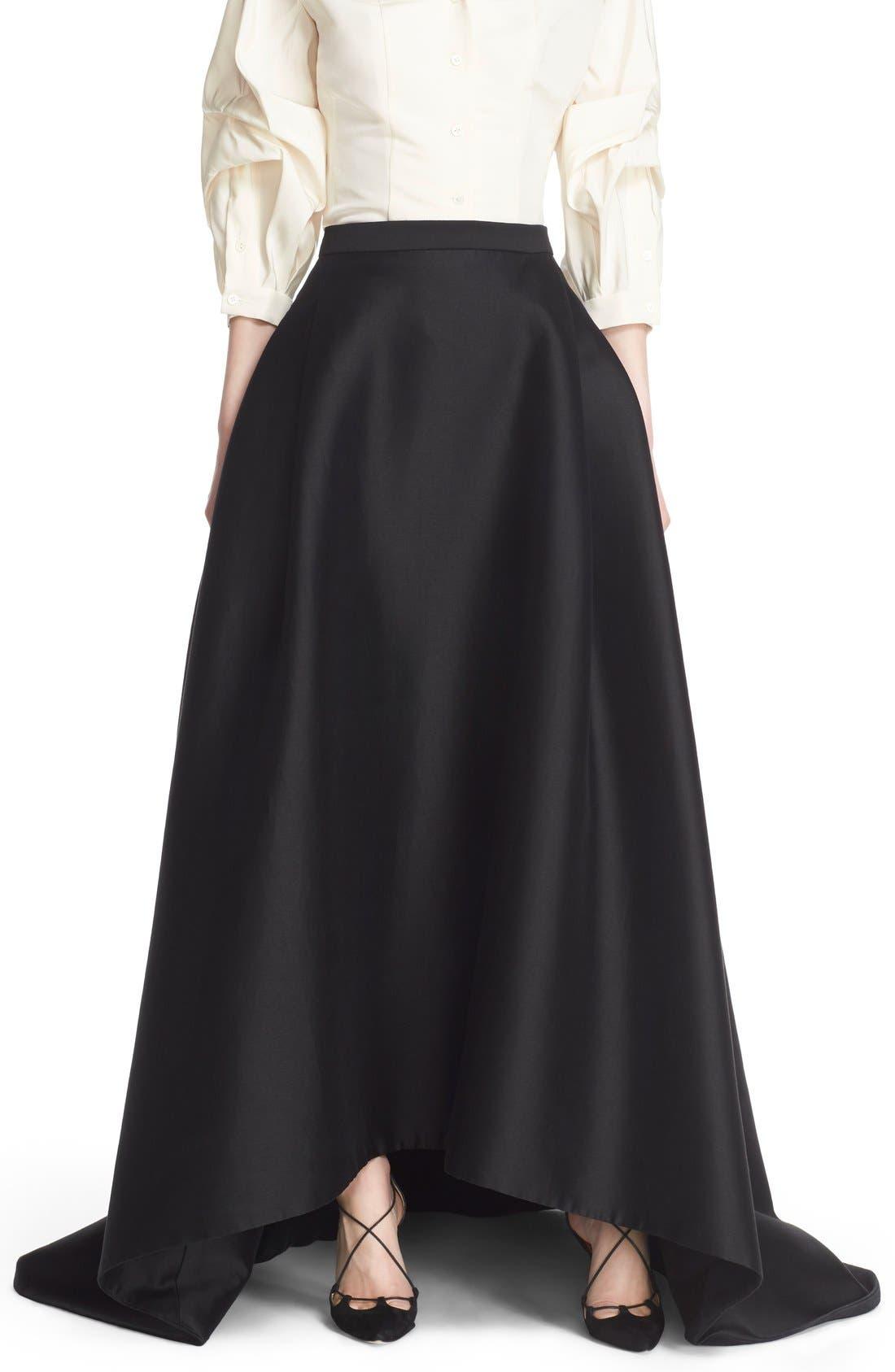 Full Length Evening Skirt,                             Main thumbnail 1, color,                             Black