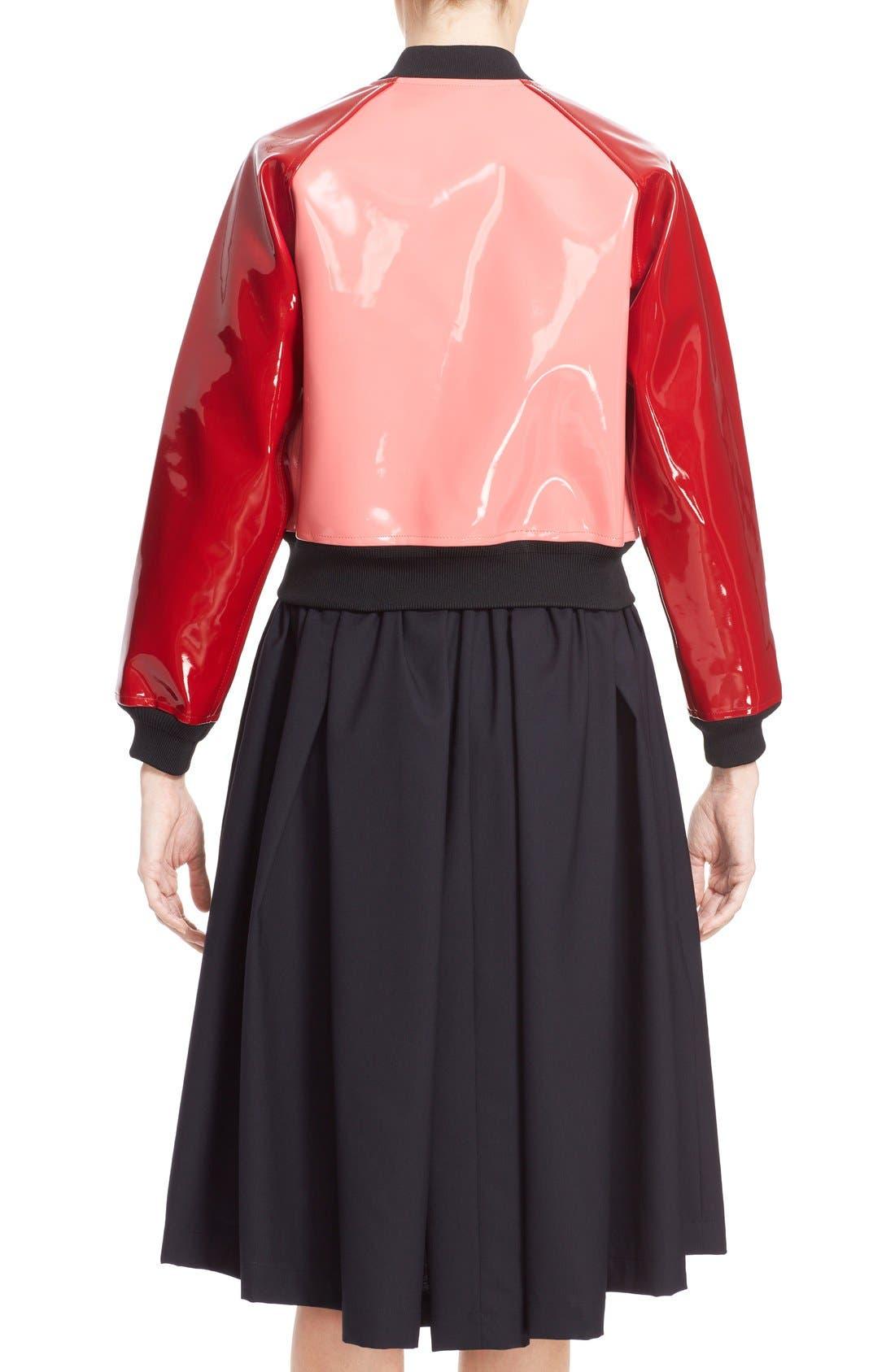 Alternate Image 2  - Comme des Garçons 'Enamel' Faux Leather Bomber Jacket