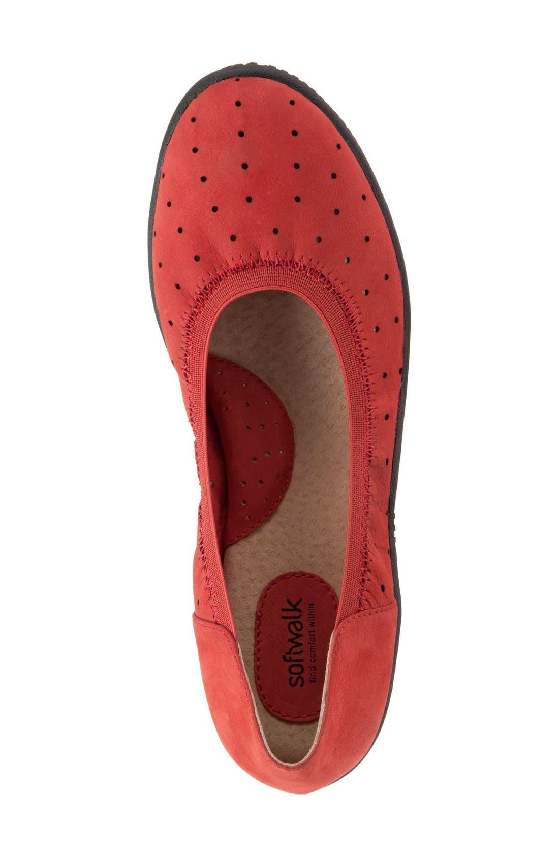Alternate Image 3  - SoftWalk® 'Hampshire' Dot Perforated Ballet Flat (Women)