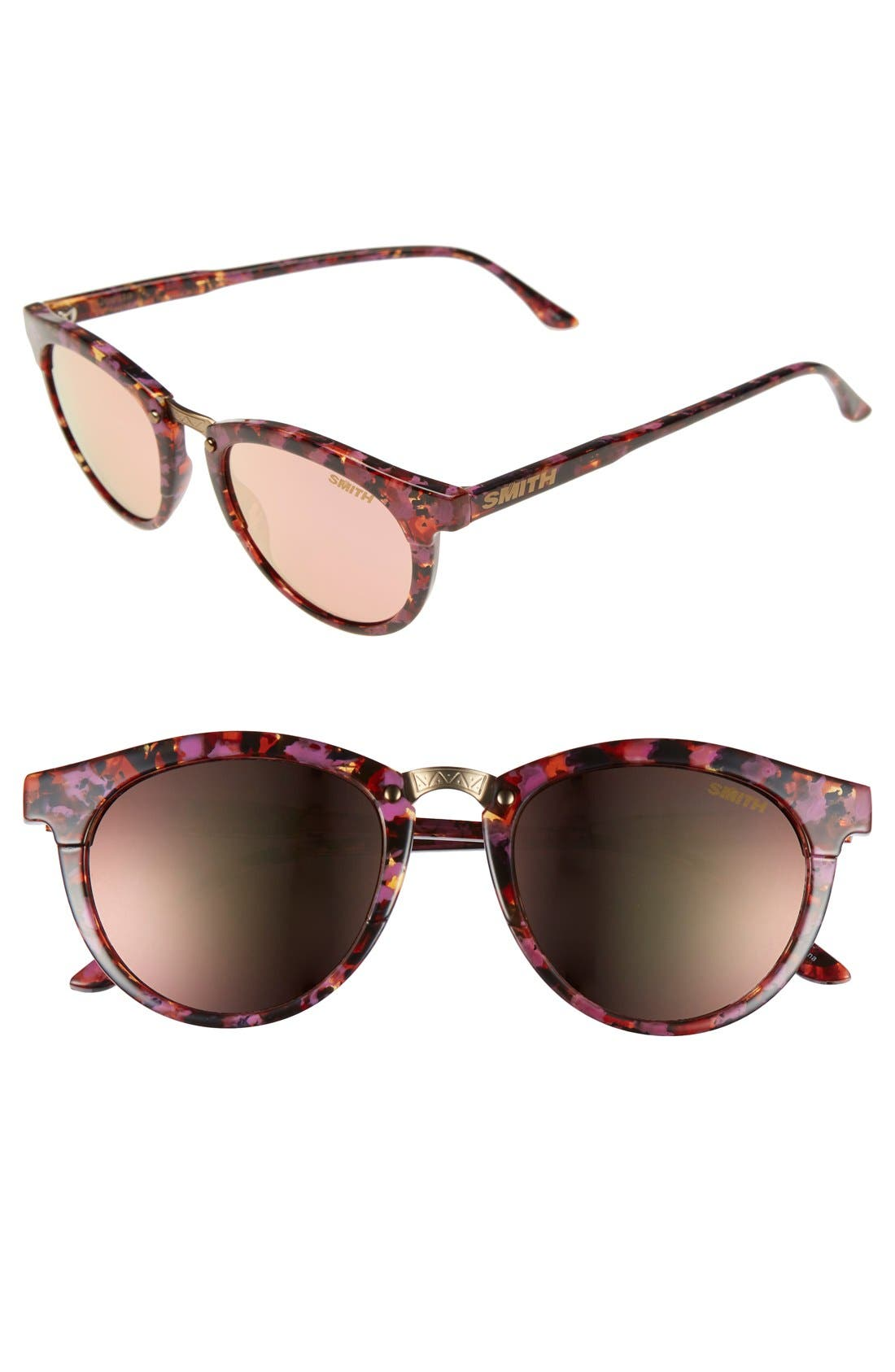 'Questa' 49mm Cat Eye Sunglasses,                         Main,                         color, Flecked Tortoise/ Rose Gold