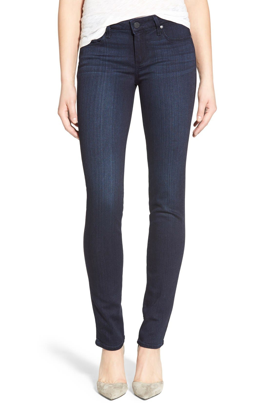 Alternate Image 1 Selected - PAIGE 'Skyline' Skinny Jeans (Everdeen) (Nordstrom Exclusive)