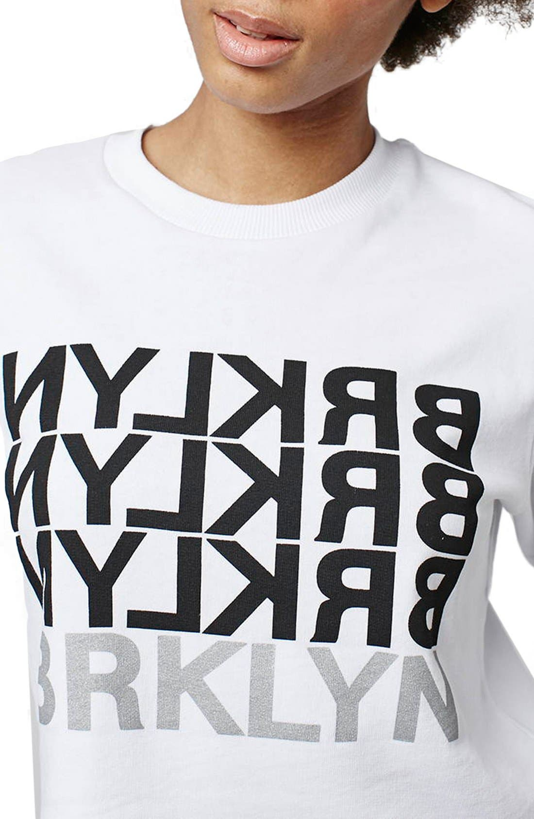 Alternate Image 5  - Topshop 'Brklyn' Graphic Sweatshirt