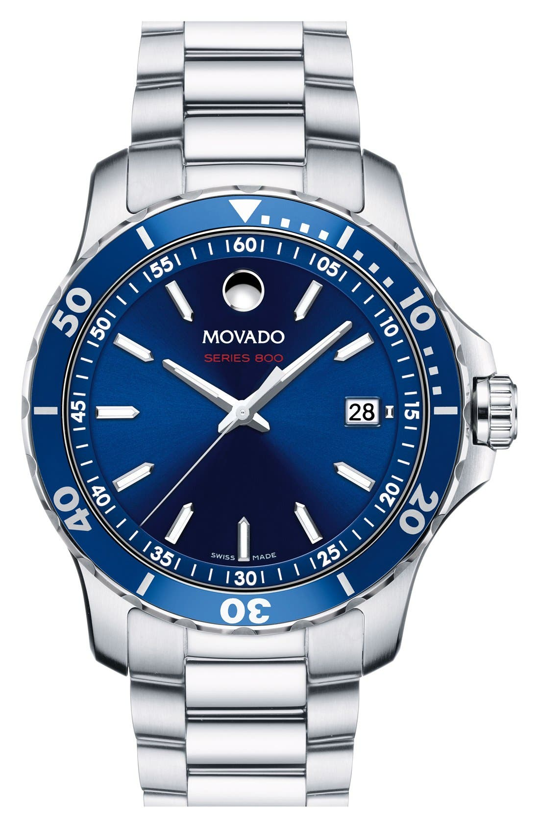 Main Image - Movado 'Series 800' Bracelet Watch, 40mm