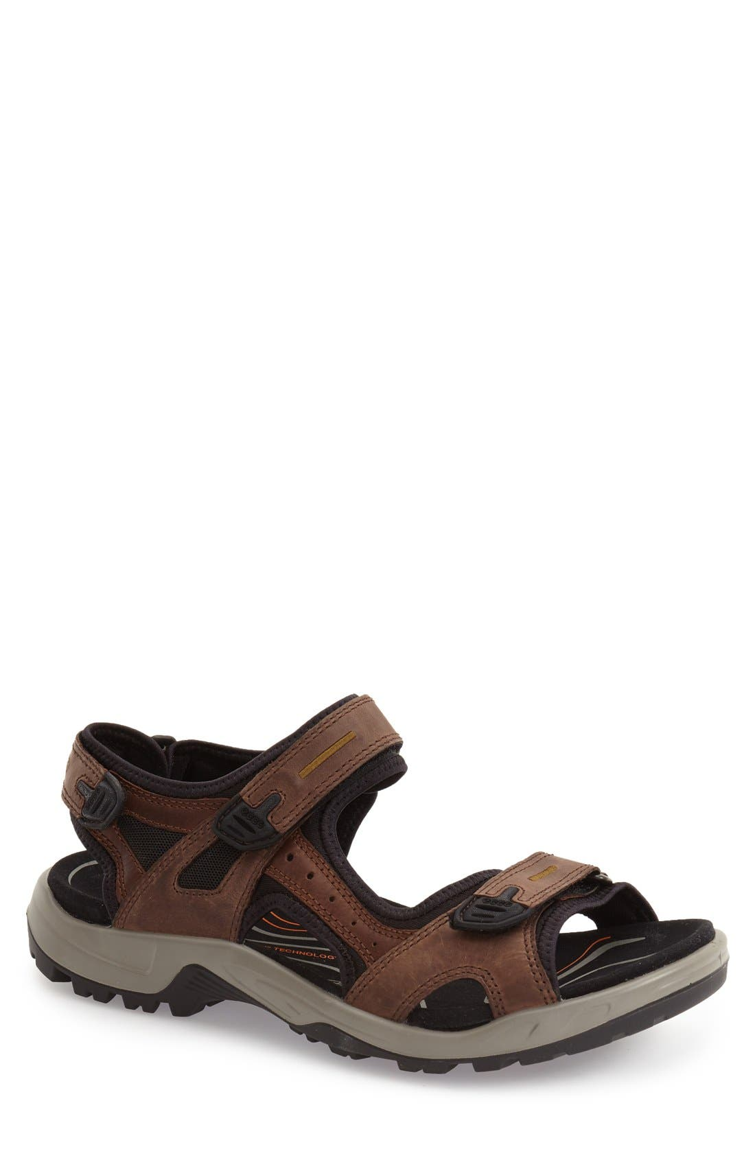 'Yucatan' Sandal,                         Main,                         color, Espresso Leather