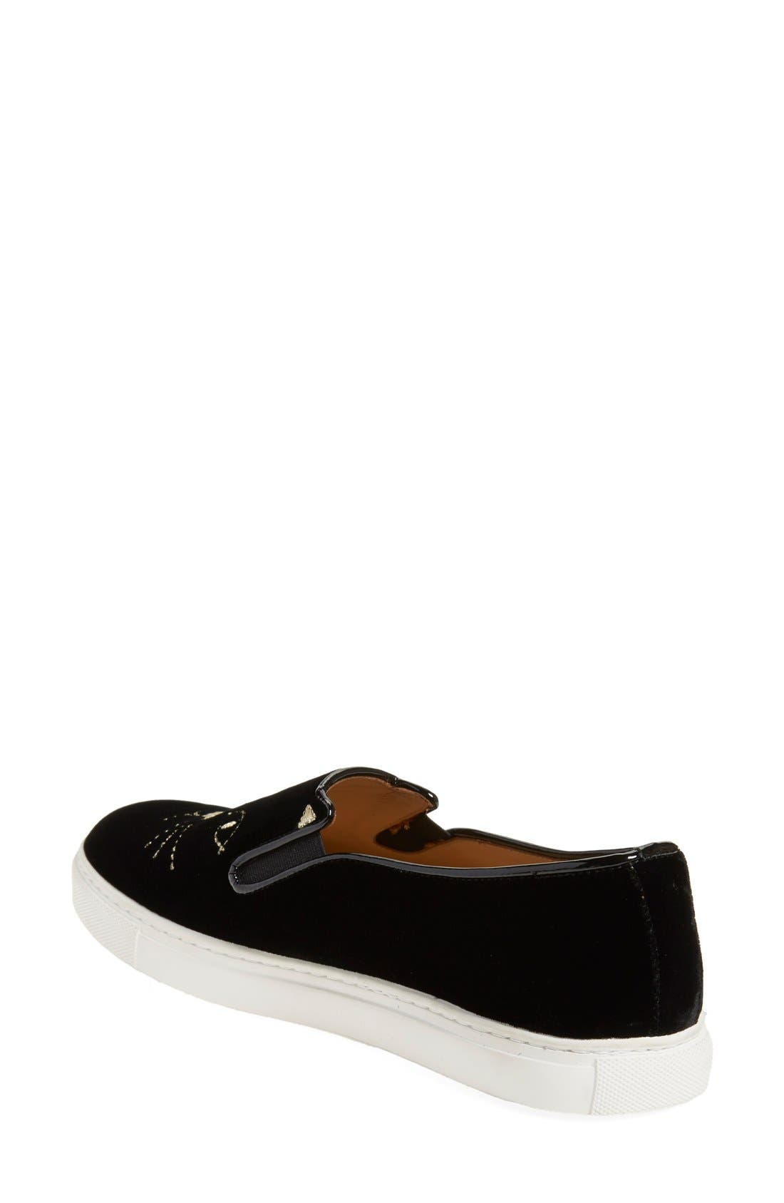 Alternate Image 2  - Charlotte Olympia Cool Cats Slip-On Sneaker (Women)