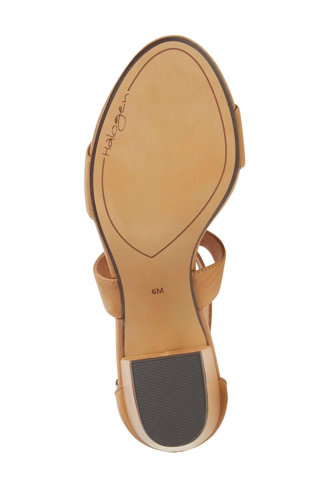 Halogen 'Rena' Crisscross Strap Sandal,                             Alternate thumbnail 4, color,                             Cognac