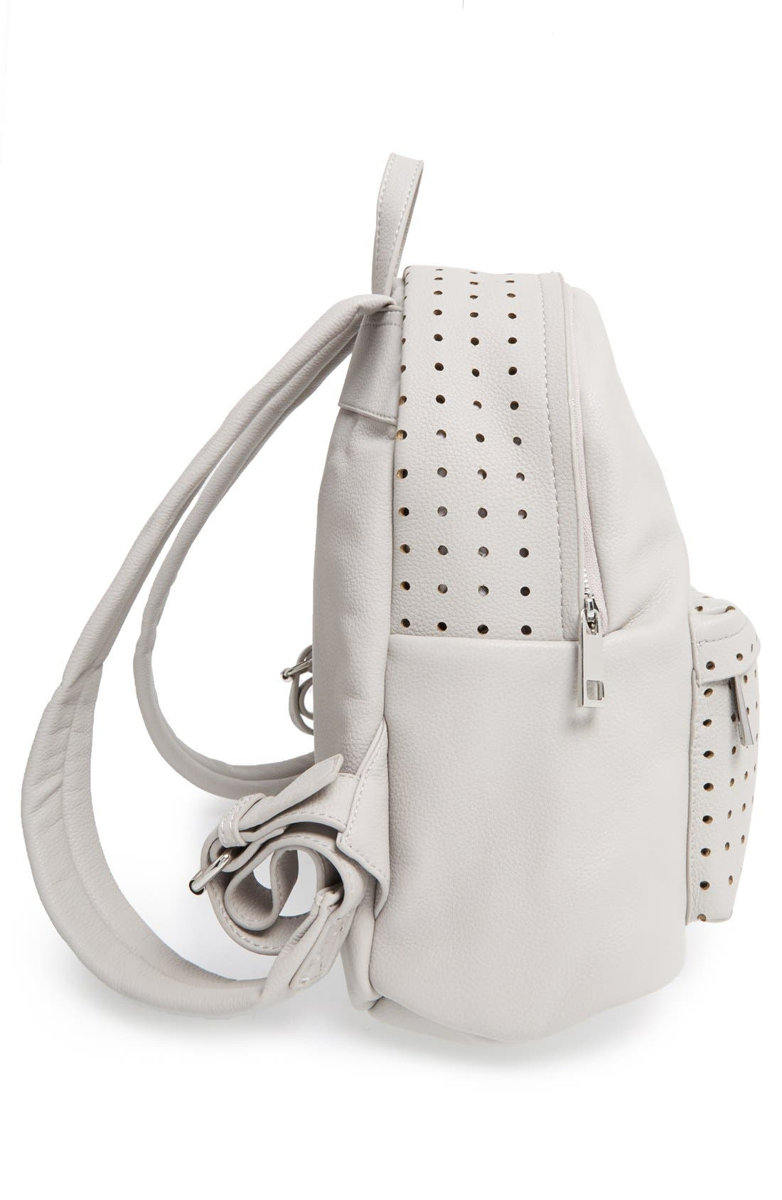 Alternate Image 5  - Street Level Perforated Faux Leather Backpack