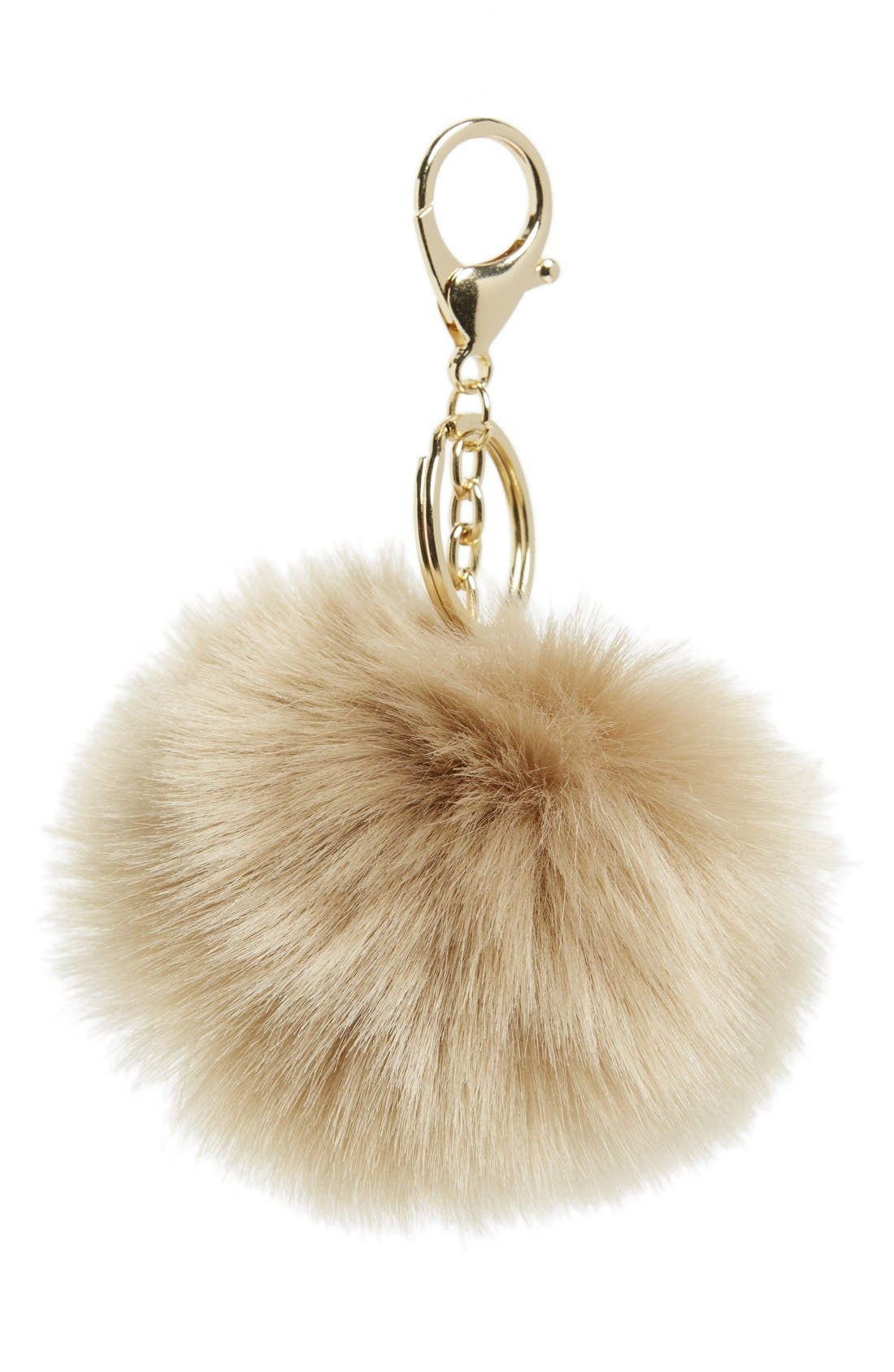 Alternate Image 1 Selected - Shinhwa Faux Fur Pom Keychain