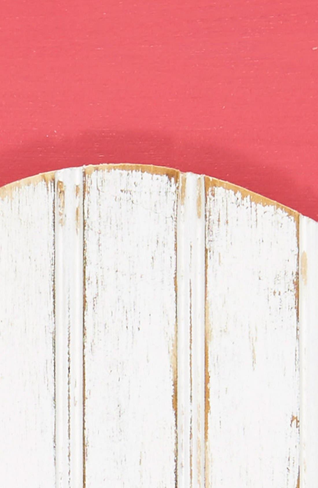 Alternate Image 2  - grace graffiti 'Flamingo' Distressed Wood Wall Art