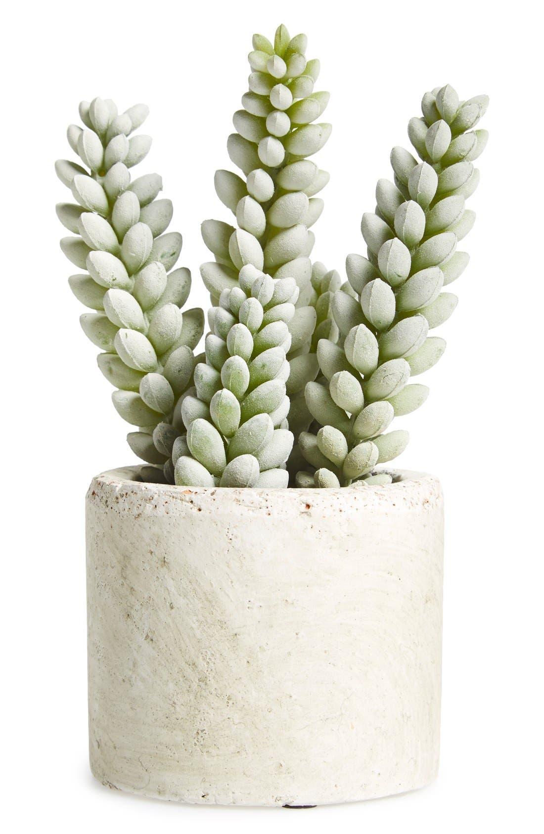 Mini Artificial Succulent,                         Main,                         color, Moss Green