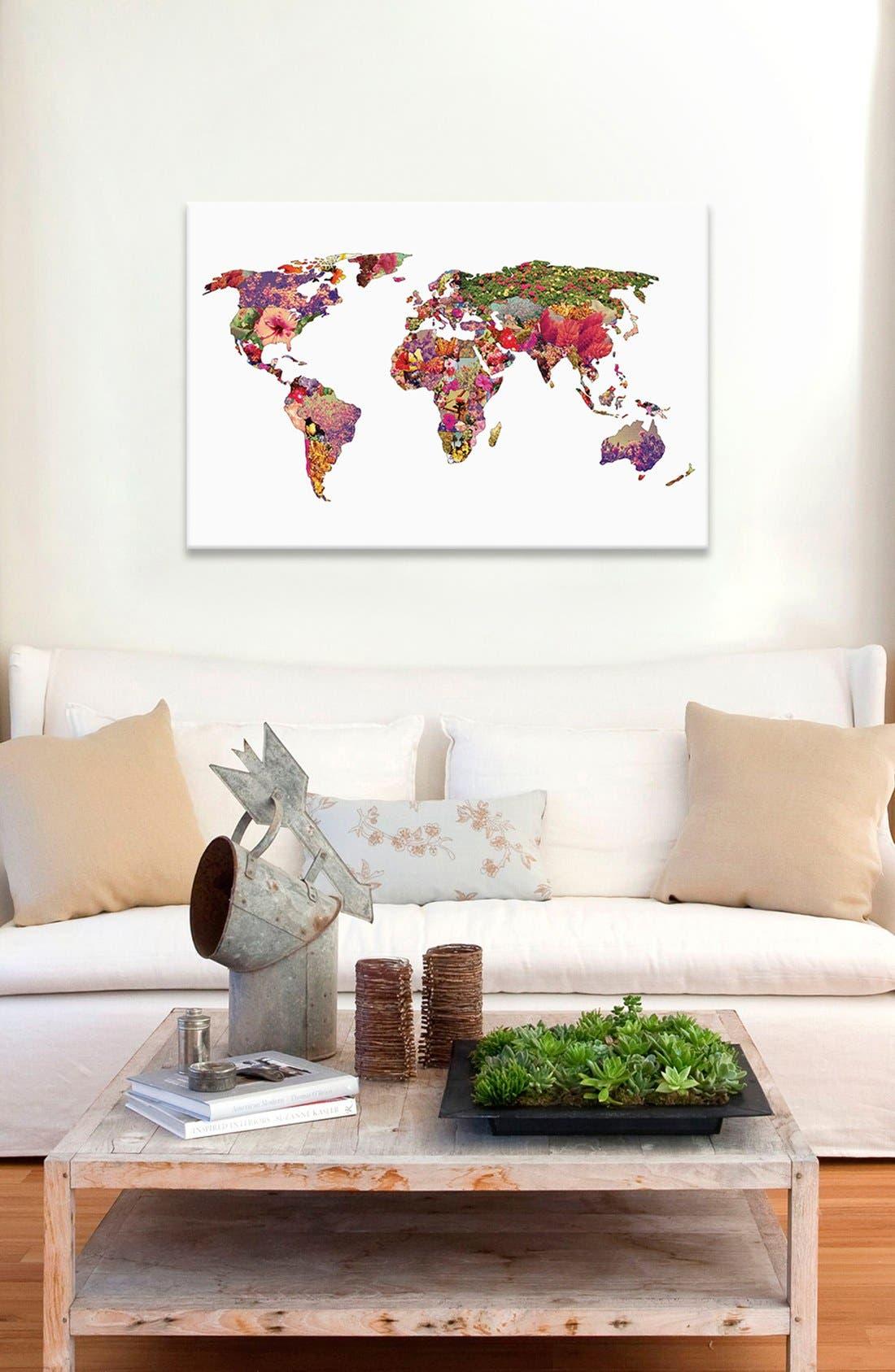 Alternate Image 2  - iCanvas 'It's Your World' Giclée Print Canvas Art