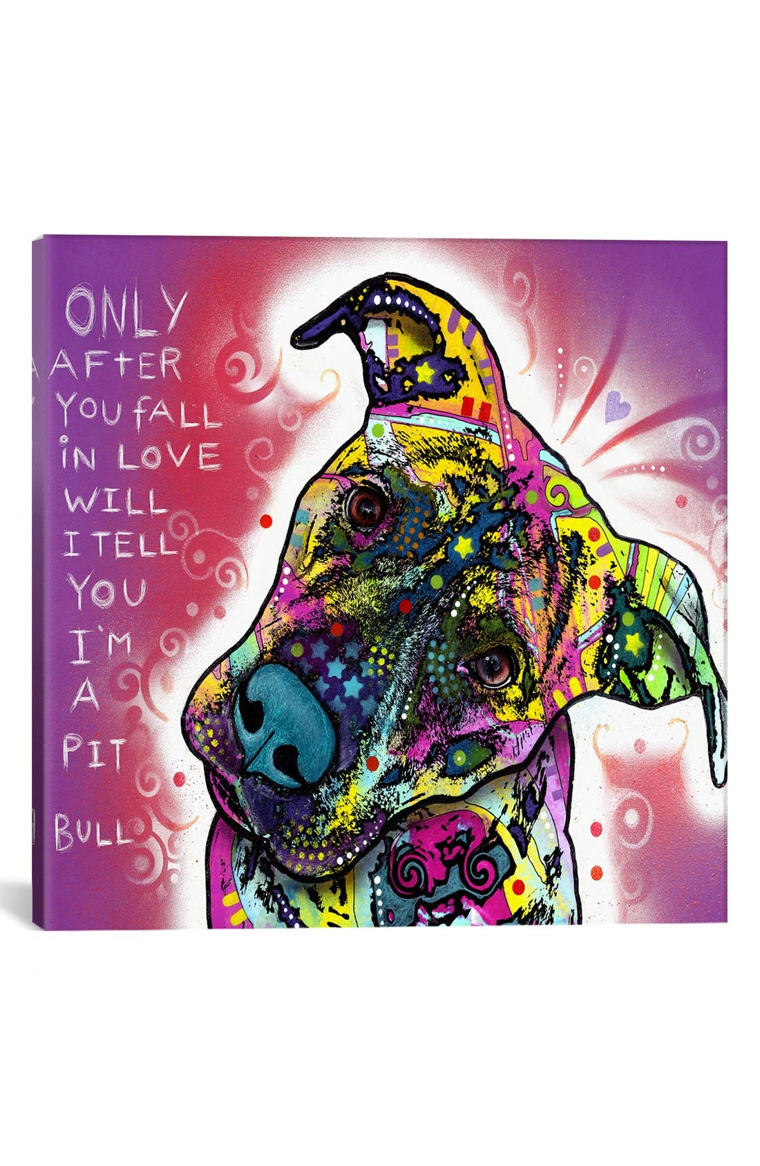 Alternate Image 1 Selected - iCanvas 'I'm a Pit Bull - Dean Russo' Giclée Print Canvas Art