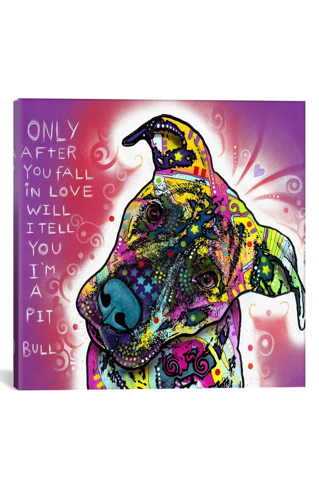 'I'm a Pit Bull - Dean Russo' Giclée Print Canvas Art,                         Main,                         color, Purple