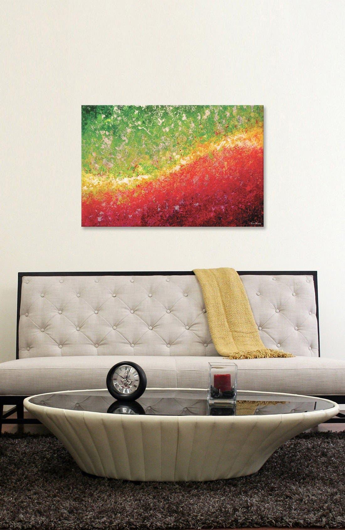 'Equinox' Giclée Print Canvas Art,                             Alternate thumbnail 2, color,                             Green