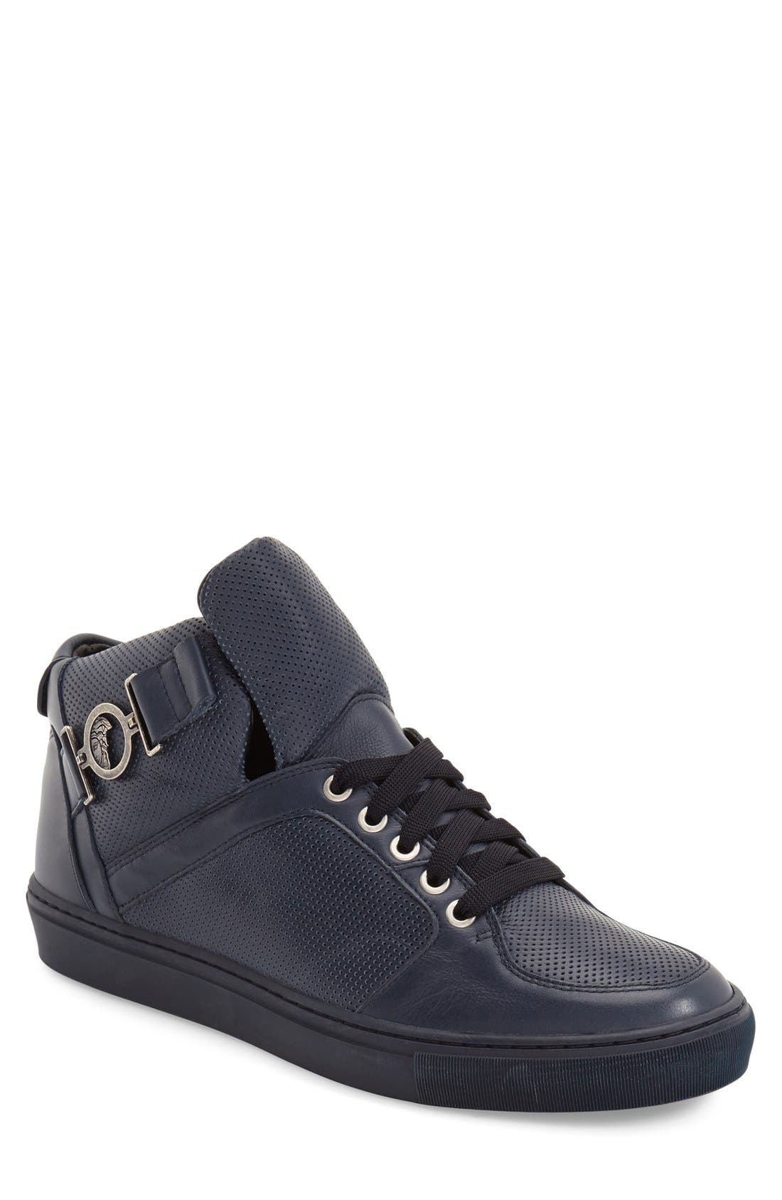 Alternate Image 1 Selected - Versace Collection Buckle High Top Sneaker (Men)