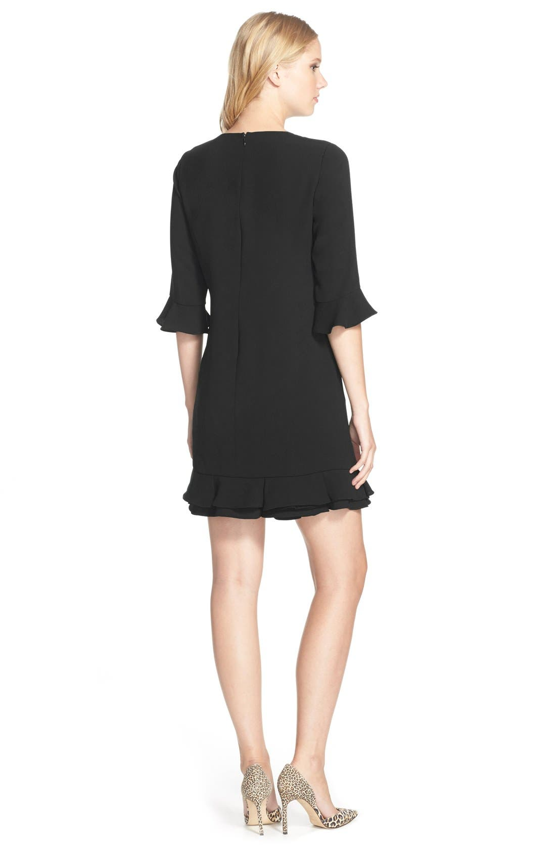 Alternate Image 2  - CeCe 'Kate' Ruffle Hem Shift Dress (Regular & Petite)