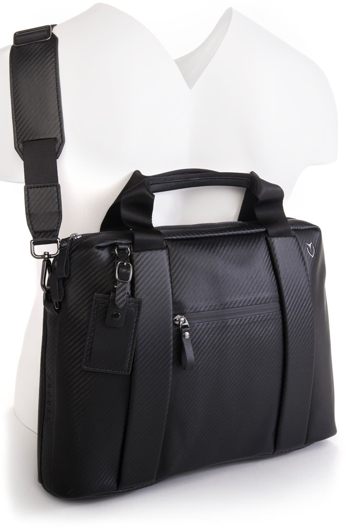 'Signature' Briefcase,                             Alternate thumbnail 2, color,                             Carbon Black
