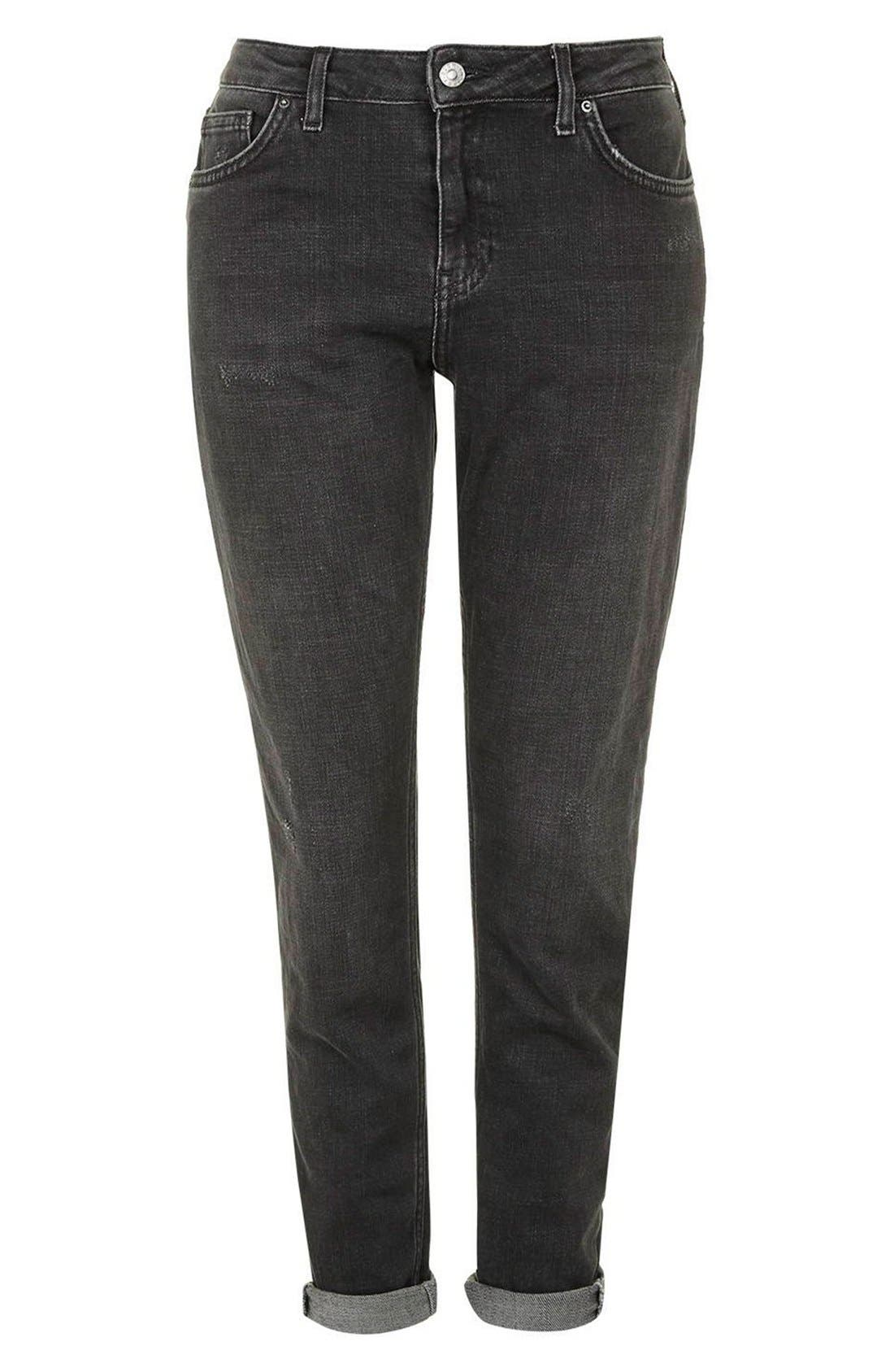 Alternate Image 4  - Topshop Moto 'Lucas' Slim Boyfriend Jeans